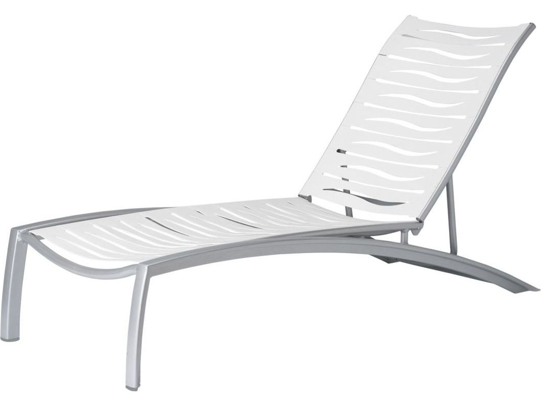 Tropitone South Beach Wave Aluminum Stackable Chaise Lounge Within Recent South Beach Chaise Lounges (View 2 of 25)