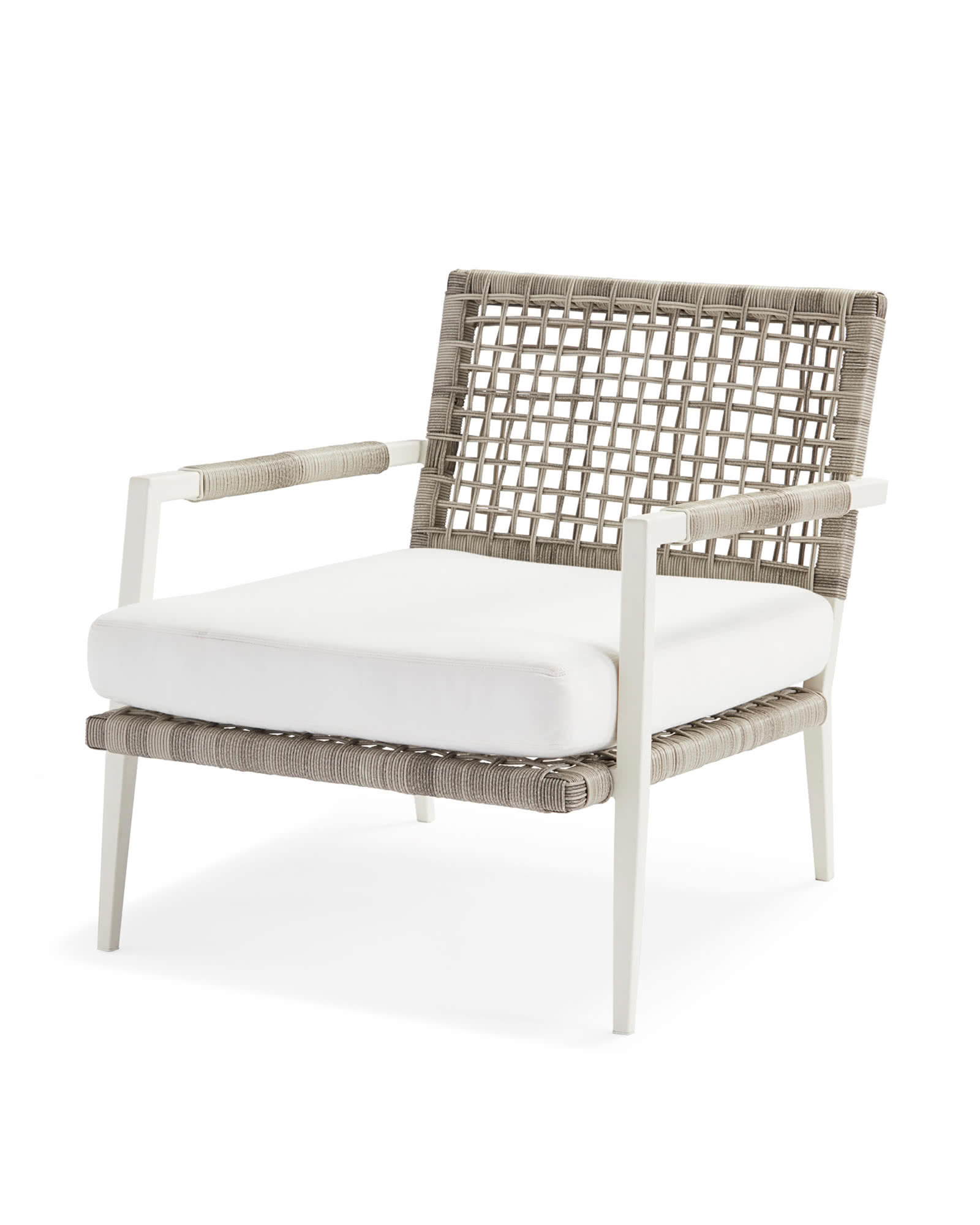 Waterfront Lounge Chair Pertaining To Well Known Lounge Chairs In White With Grey Cushions (View 14 of 25)