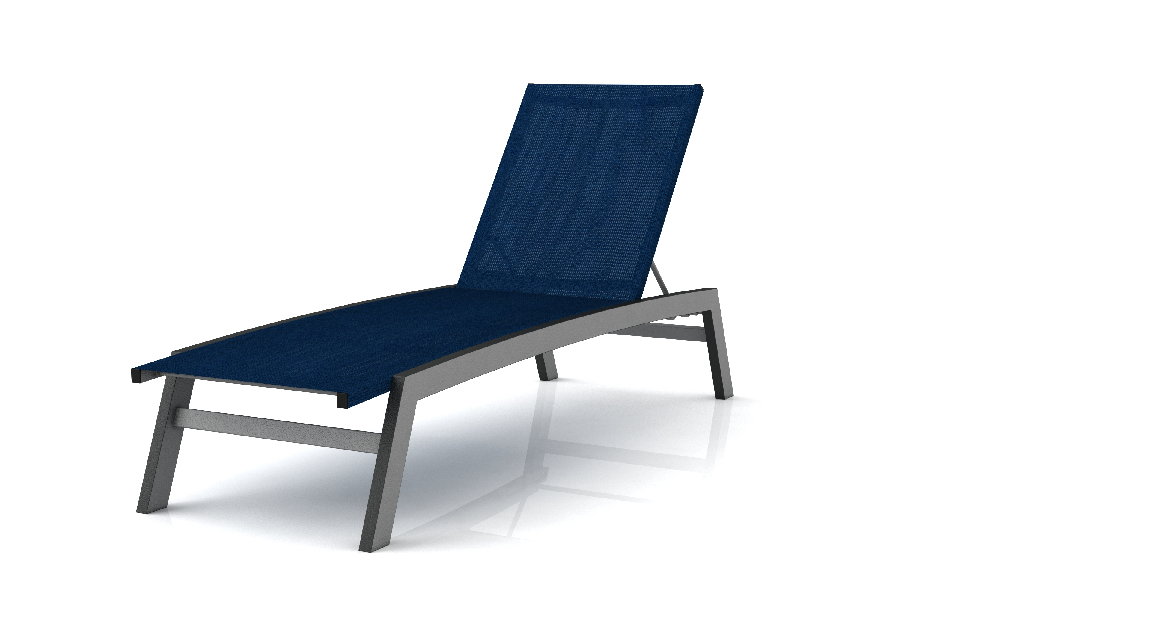 Well Known Biscayne White Chaise Lounge Chairs Within Biscayne Aluminum Frame Chaise Lounge Chair (View 13 of 25)