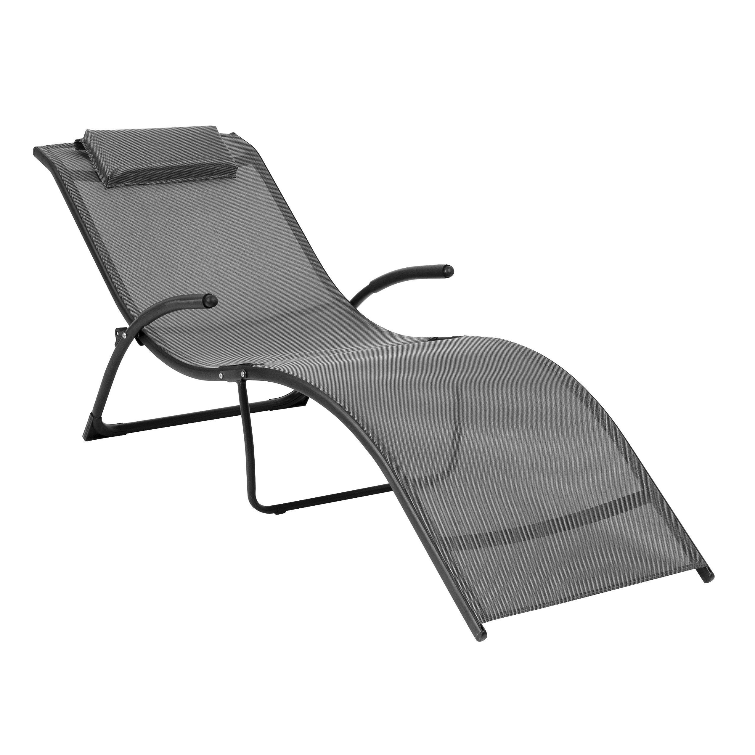 Well Known Corliving Folding Reclined Patio Lounger With Regard To Corliving Riverside Textured Loungers (View 18 of 25)