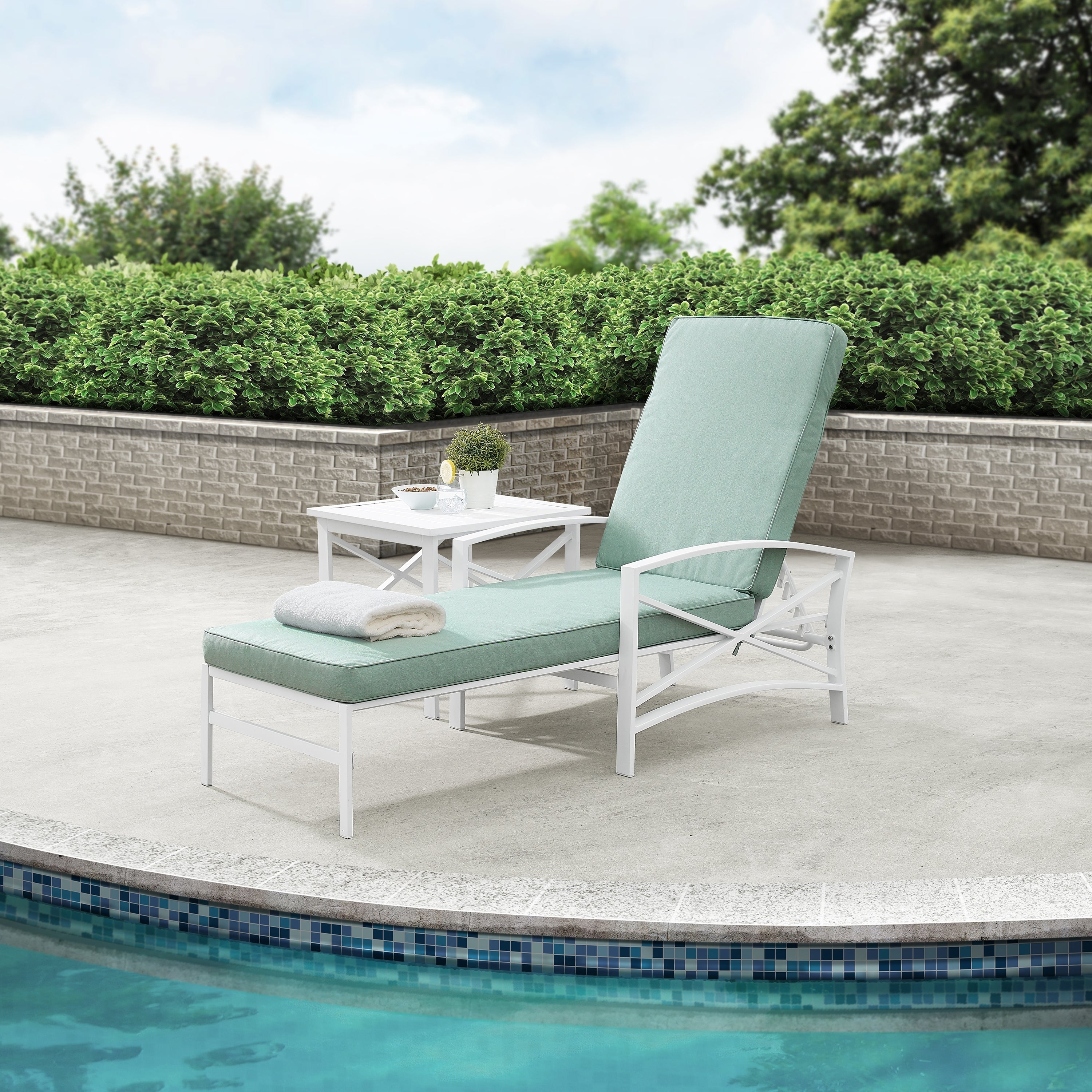 Well Known Havenside Home Davis Chaise Lounge Chair In White With Mist Cushions Regarding Chaise Lounge Chairs In Bronze With Mist Cushions (Gallery 18 of 25)