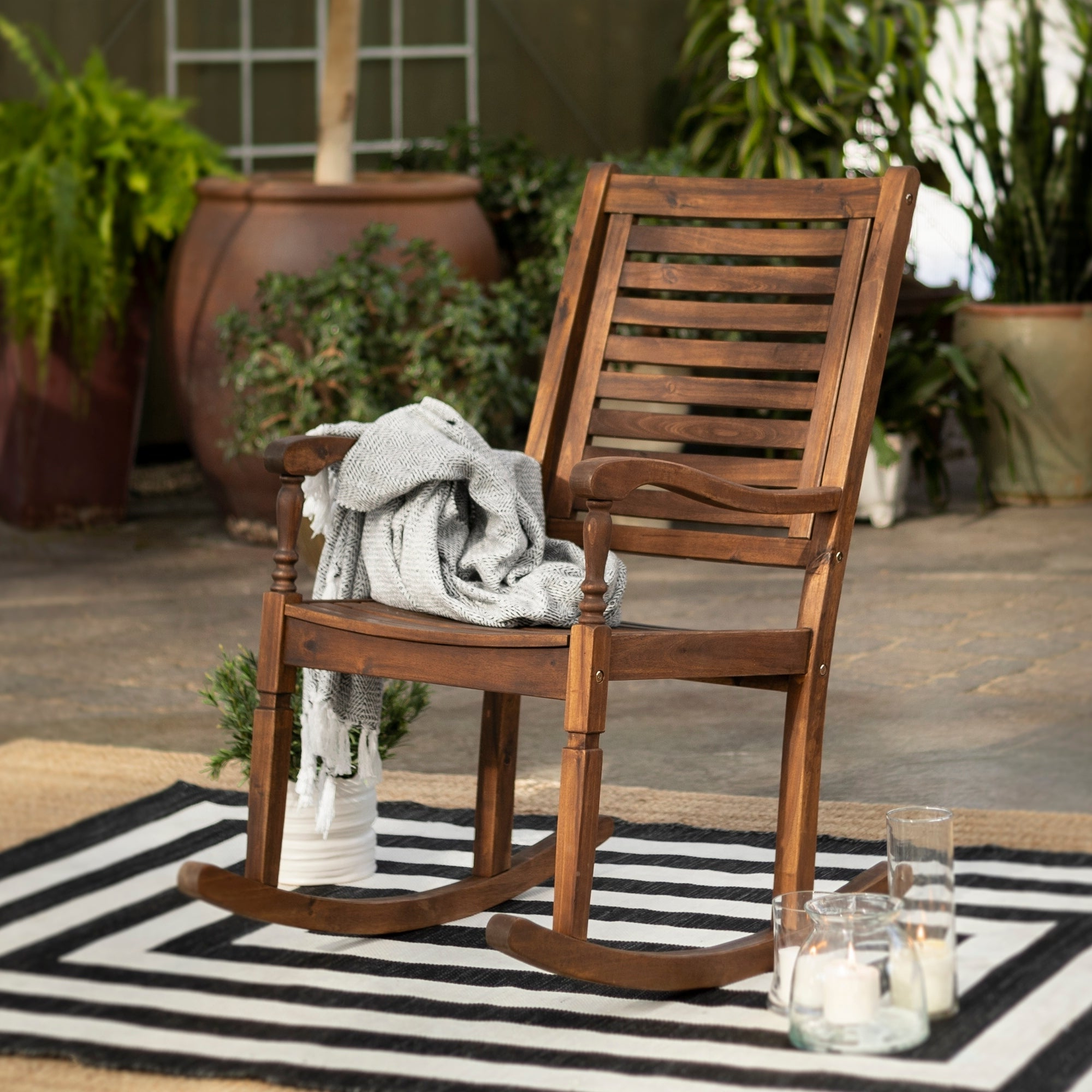 Well Known Havenside Home Surfside Outdoor Lounge Chairs Within Havenside Home Surfside Acacia Outdoor Rocking Chair – Dark Brown – 23 X 35 X 43h (View 21 of 25)