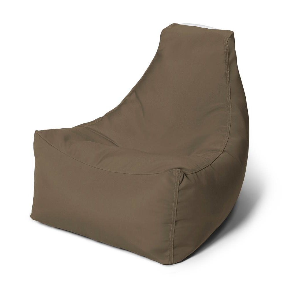 Well Known Jaxx Juniper Jr Taupe Outdoor Kids Bean Bag Lawn Chair Regarding Indoor/outdoor Patio Bean Bag Chairs (View 12 of 25)
