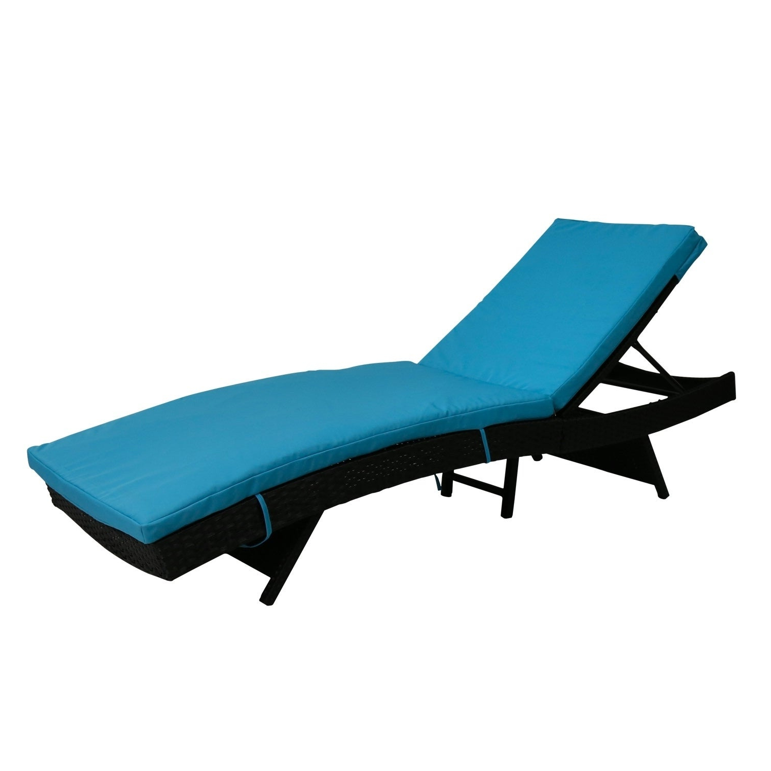 Well Known Kinbor Outdoor Patio Adjustable Chaise Lounge Chair All Weather Pe Rattan  Wicker Chaise Lounge Furniture W/cushions Throughout Outdoor Adjustable Rattan Wicker Chaise Pool Chairs With Cushions (View 22 of 25)