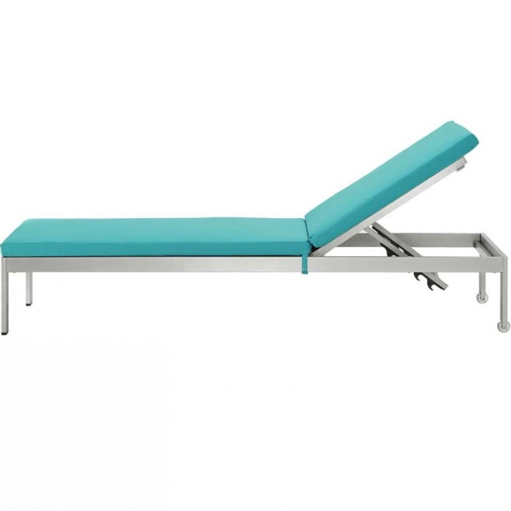 Well Known Modway Shore Chaise With Cushions Outdoor Patio Aluminum Set Of 6 Inside Shore Aluminum Outdoor Chaises (View 19 of 25)