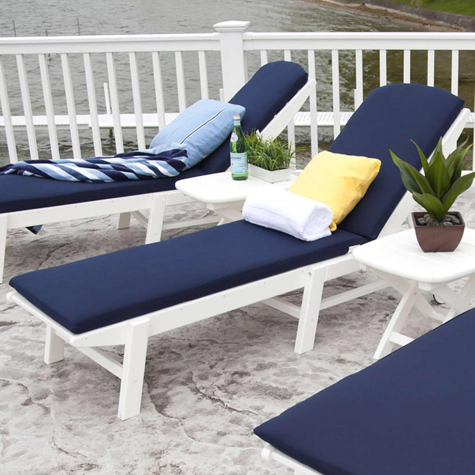Well Known Nautical Outdoor Chaise Lounges With Arms Throughout Polywood Nautical Chaise Lounge Cushions (View 25 of 25)