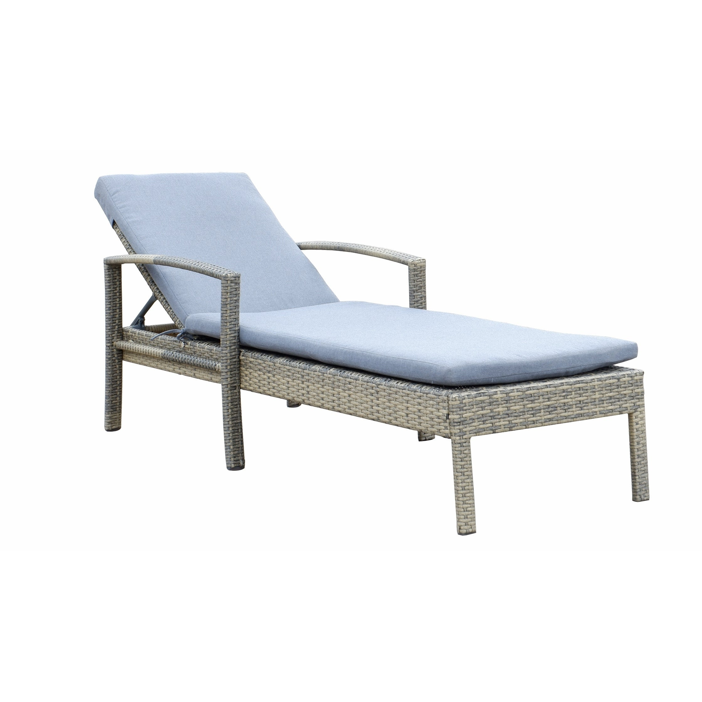 Well Known Newport Chaise Lounge With Cushion For Modern Home Wailea Woven Rattan Loungers (View 12 of 25)