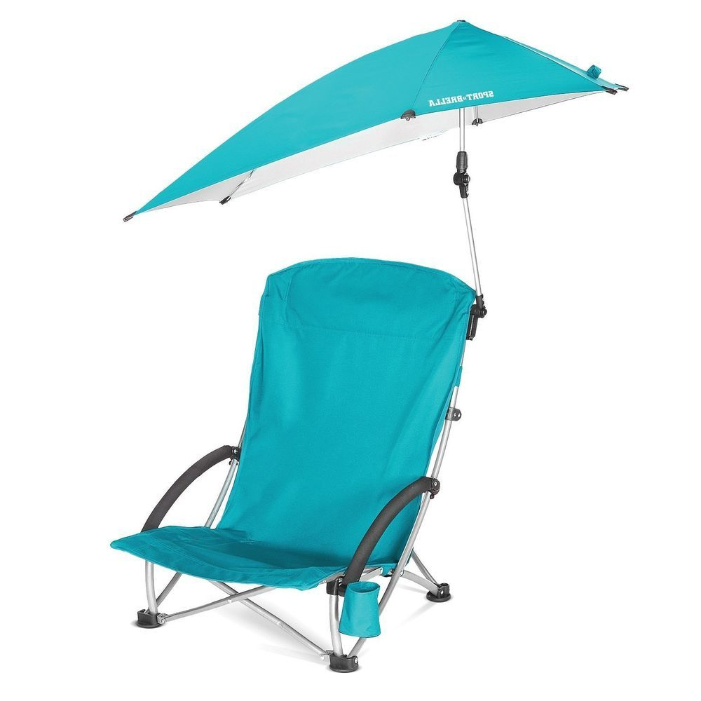 Well Known Outdoor Beach Camping Chair Swivel Portable Folding Umbrella With Folding Patio Lounge Beach Chairs With Canopy (View 8 of 25)
