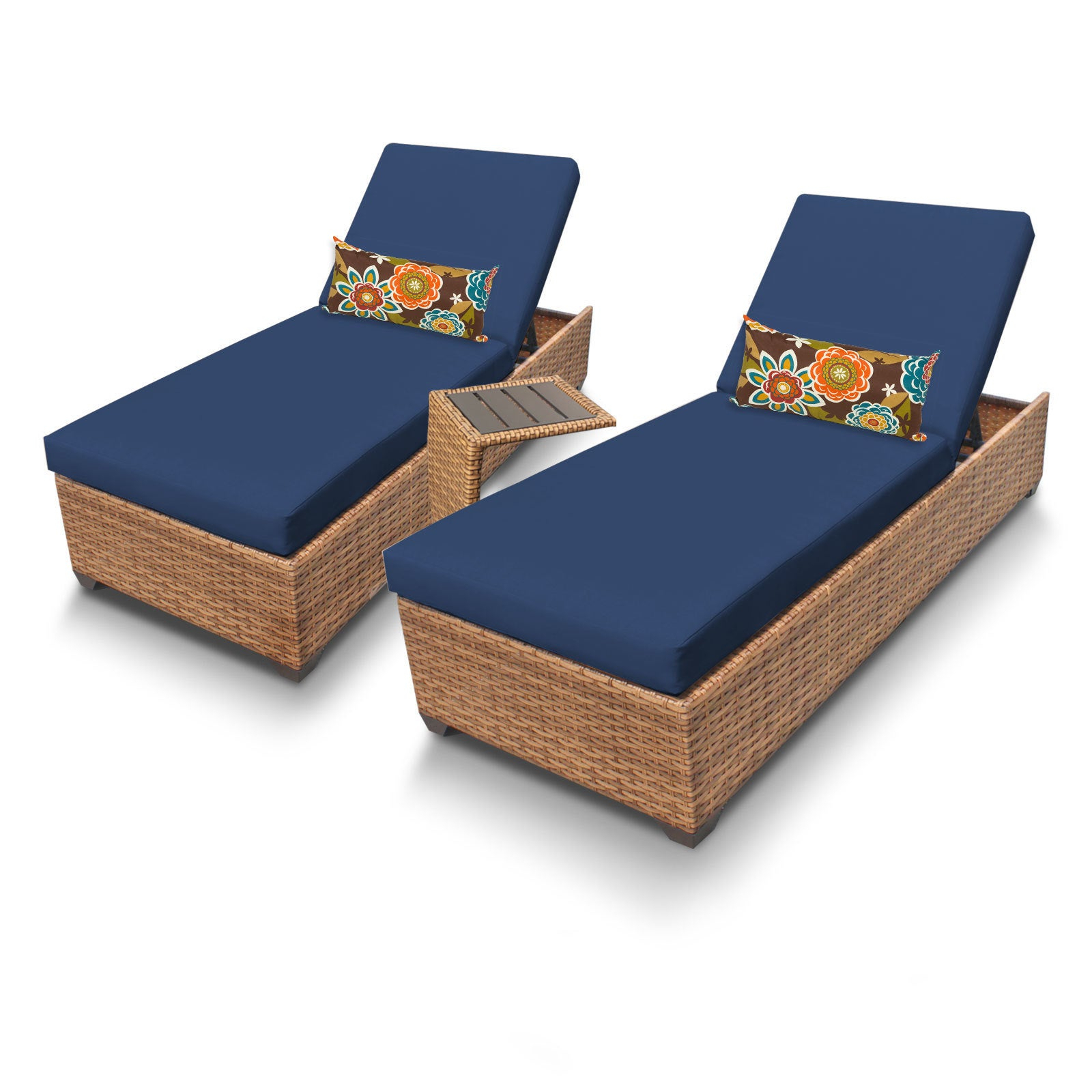 Well Known Outdoor Home Bayou Wicker 2 Piece Outdoor Patio Wicker Chaise Lounge And  Side Table Set Within 2 Piece Outdoor Wicker Chaise Lounge Chairs (Gallery 16 of 25)