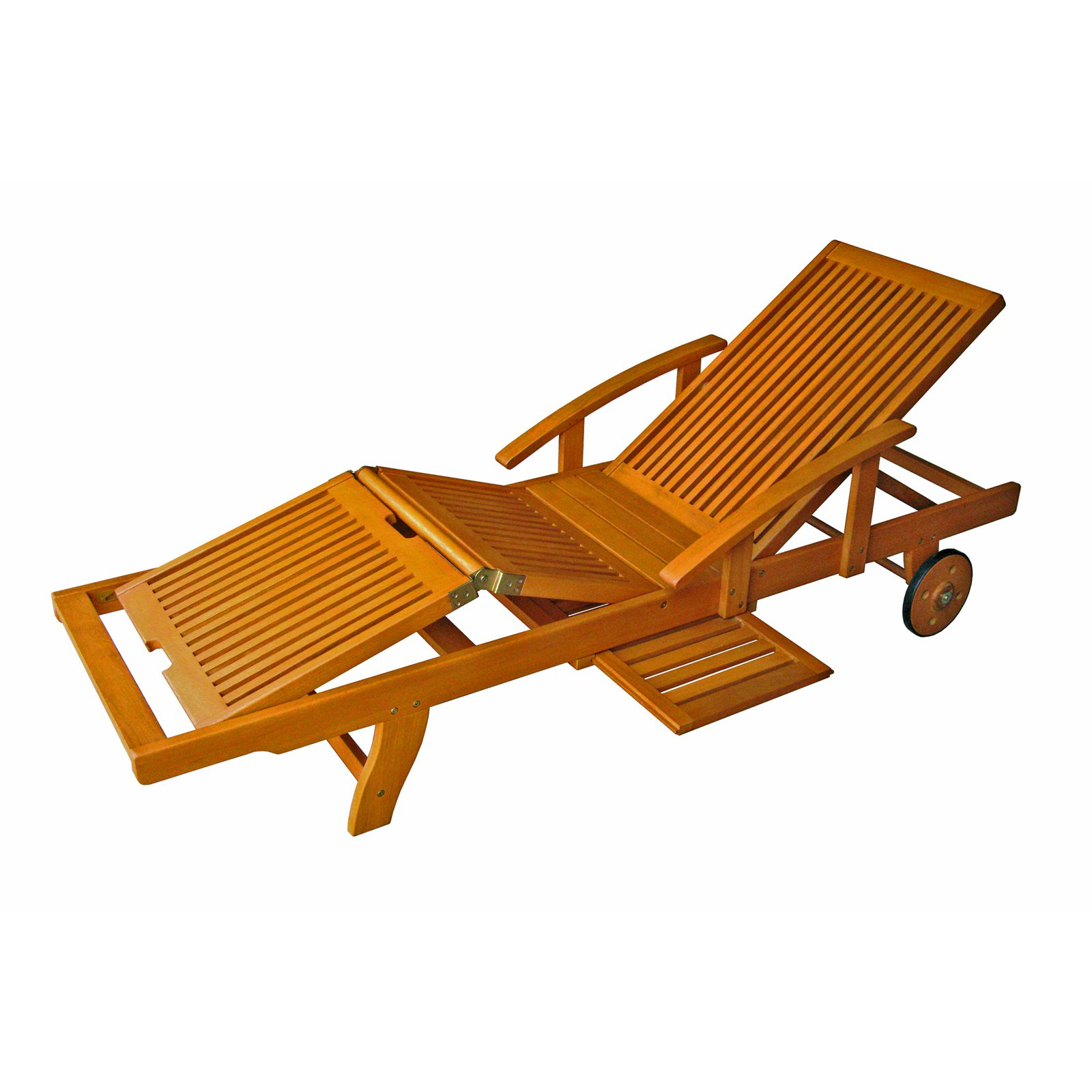 Well Known Outdoor International Caravan Royal Tahiti Wooden Chaise Throughout Outdoor Multi Position Chaise Lounges (View 24 of 25)