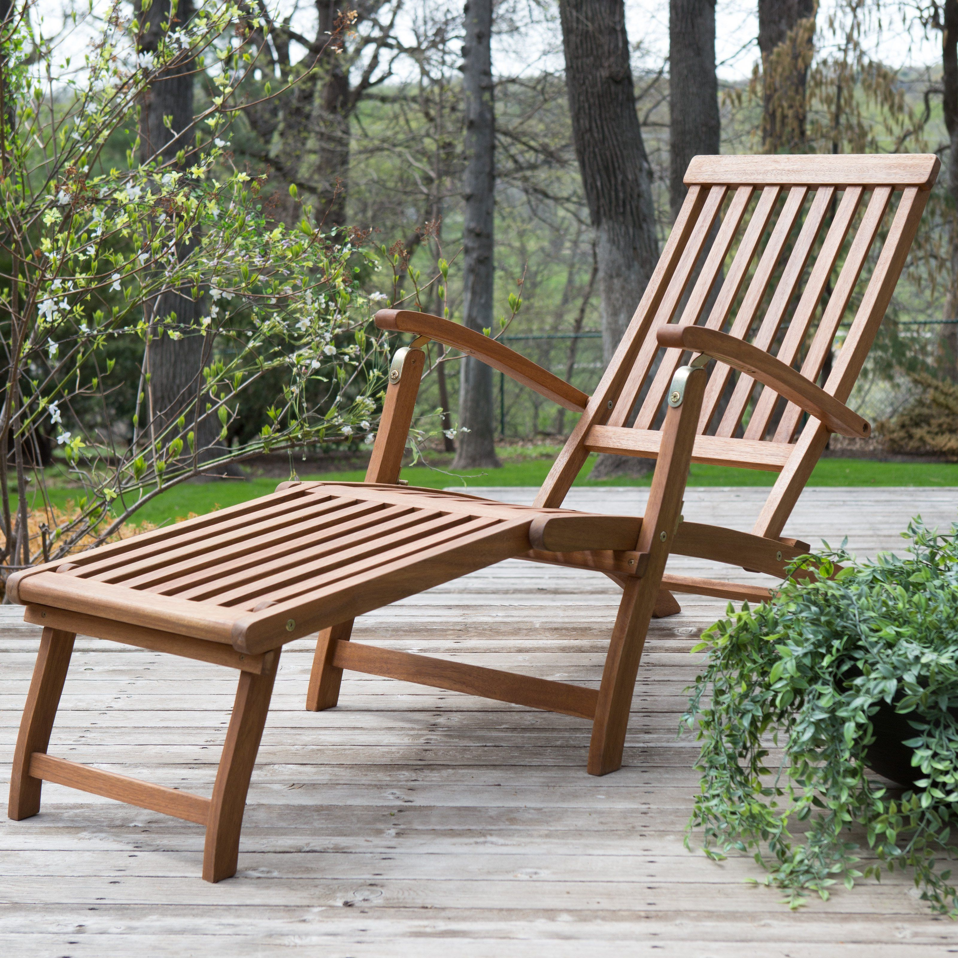 Well Known Outdoor Rustic Acacia Wood Chaise Lounges With Wicker Seat In $130 Coral Coast Dorado Acacia Steamer Deck Lounge Chair (View 10 of 25)
