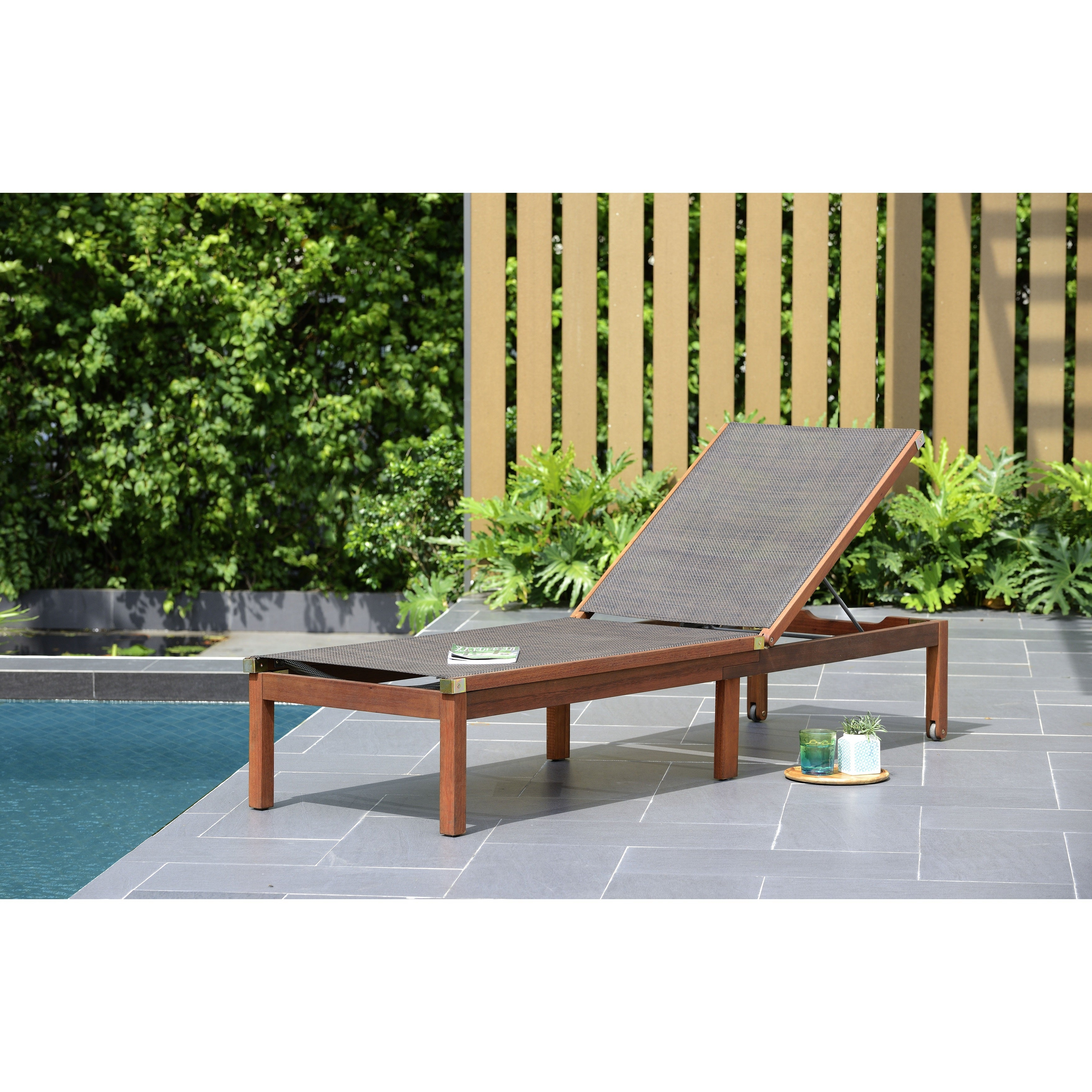 Well Known Outdoor Sling Eucalyptus Chaise Loungers Inside Havenside Home Tottenville Slash Patio Lounger With Sling (View 23 of 25)