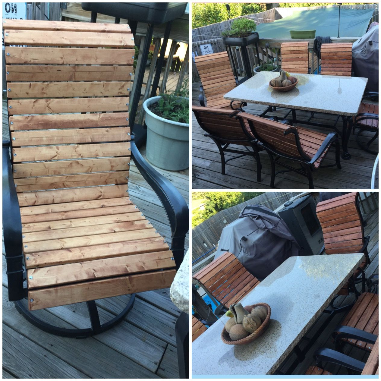 Well Known Outdoor Wood Sling Chairs Within Patio Sling Chair Makeover!! (View 20 of 25)
