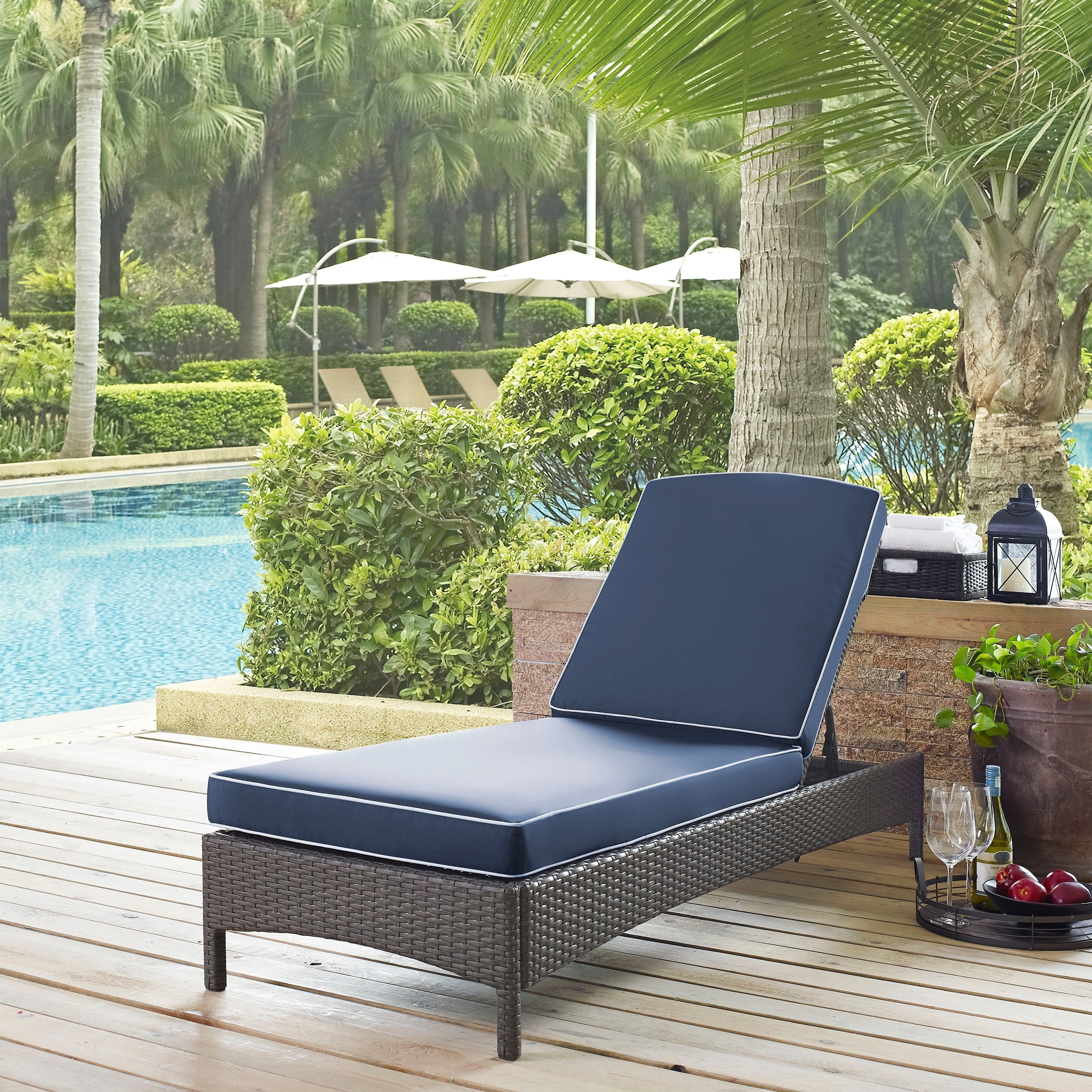 Well Known Palm Harbor Outdoor Wicker Chaise Lounge In Cosco Outdoor Steel Woven Wicker Chaise Lounge Chairs (View 10 of 25)