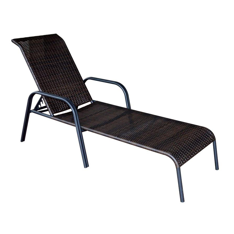 Well Known Patio Chairs At Lowes Inside Brown Folding Patio Chaise Lounger Chairs (View 23 of 25)