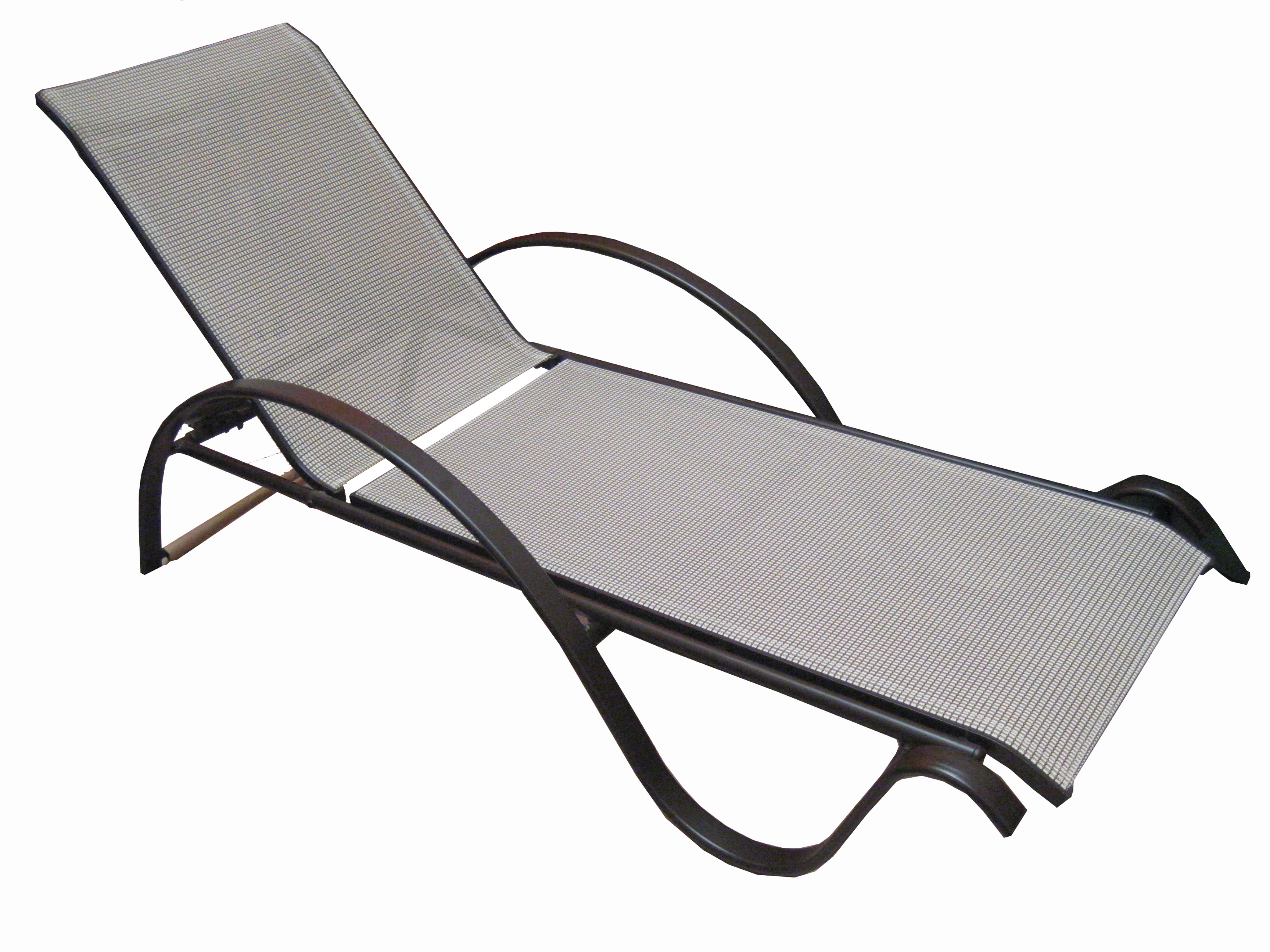 Well Known Reclining Sling Chaise Lounges Intended For Lhy 02 Sling Chaise Reclining Lounge Chairs (Gallery 24 of 25)