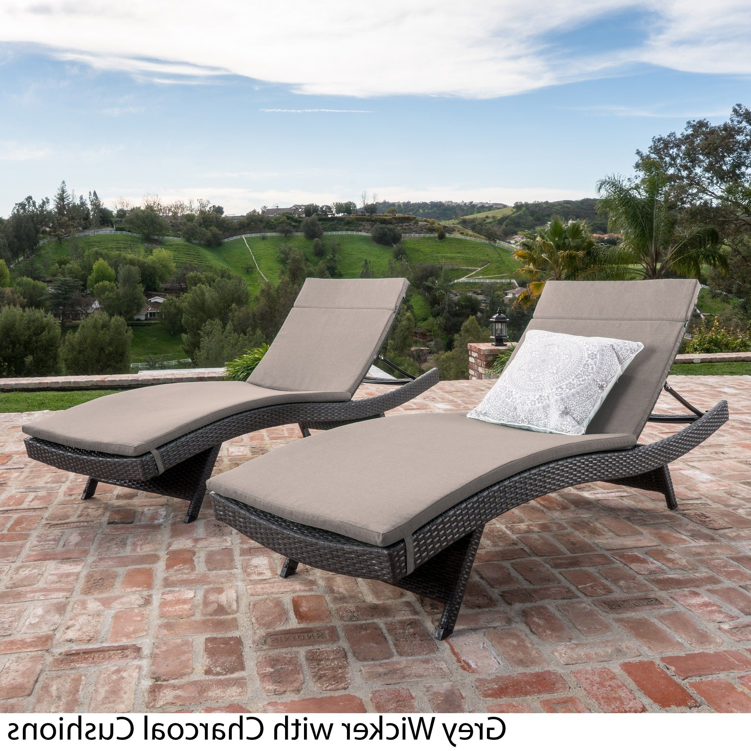 Well Liked Cosco Outdoor Steel Woven Wicker Chaise Lounge Chairs Pertaining To Toscana Outdoor Cushioned Wicker Chaise Lounge (View 25 of 25)