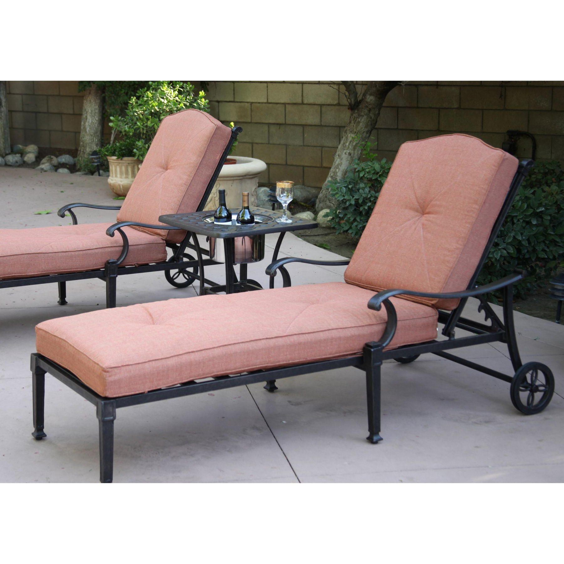 Well Liked Darlee Charleston Aluminum 3 Piece Patio Lounge Set – Dl1091 Regarding 3 Piece Patio Lounger Sets (Gallery 24 of 25)