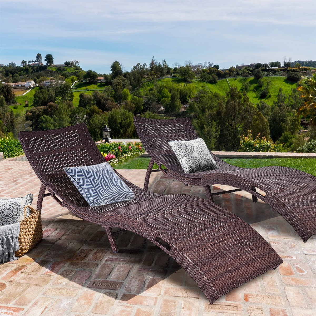 Well Liked Einnehmend Tangkula Wicker Chaise Lounge Chair Cushion With Kauai Outdoor Wicker Chaise Lounges (View 25 of 25)
