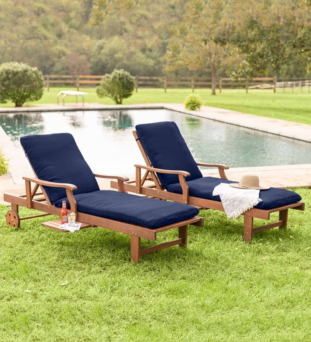 Well Liked Eucalyptus Teak Finish Outdoor Chaise Loungers With Cushion For Claremont Eucalyptus Chaise Lounge Will Elevate Your Outdoor (View 9 of 25)