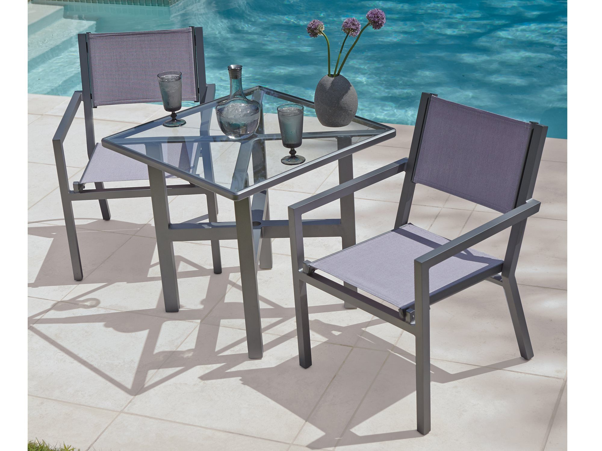 Well Liked Havenside Home Fenwick Chaise Lounge Chairs Throughout Woodard Palm Coast Aluminum Dining Set (Gallery 17 of 25)