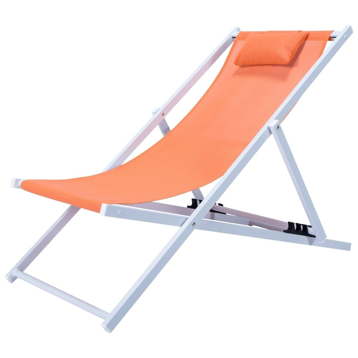 Well Liked Leisuremod Sunset Patio Sling Folding Chair Adjustable With Headrest Regarding Sunset Patio Sling Folding Chairs With Headrest (Gallery 2 of 25)