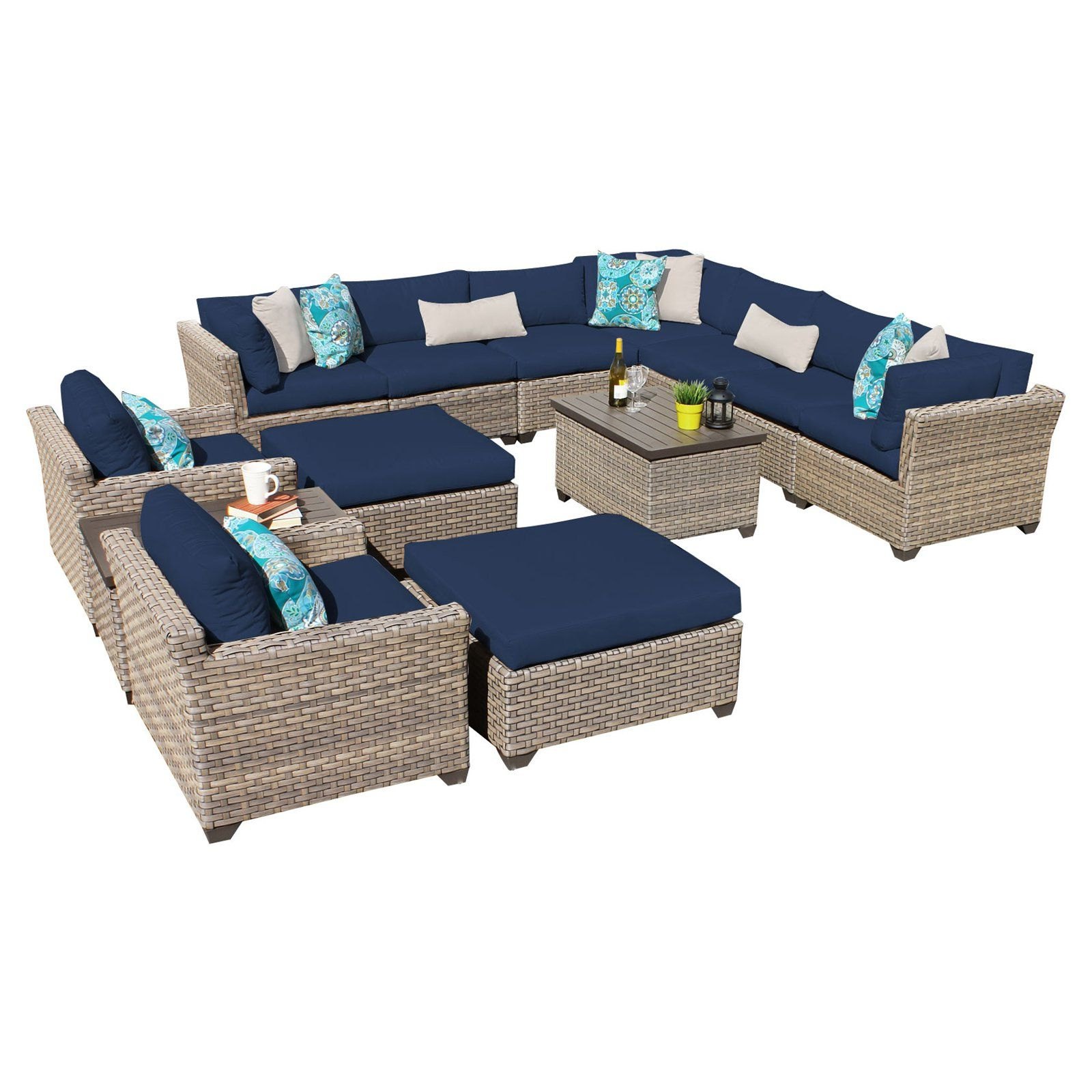 Well Liked Outdoor Tk Classics Monterey Wicker 13 Piece Patio Regarding Outdoor 13 Piece Wicker Patio Sets With Cushions (View 23 of 25)