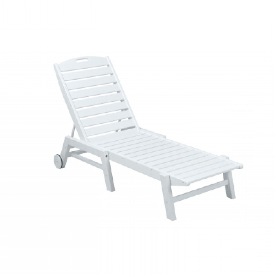 Well Liked Polywood® Nautical Wheeled Chaise Lounge Regarding Aluminum Wheeled Chaise Lounges (View 14 of 25)