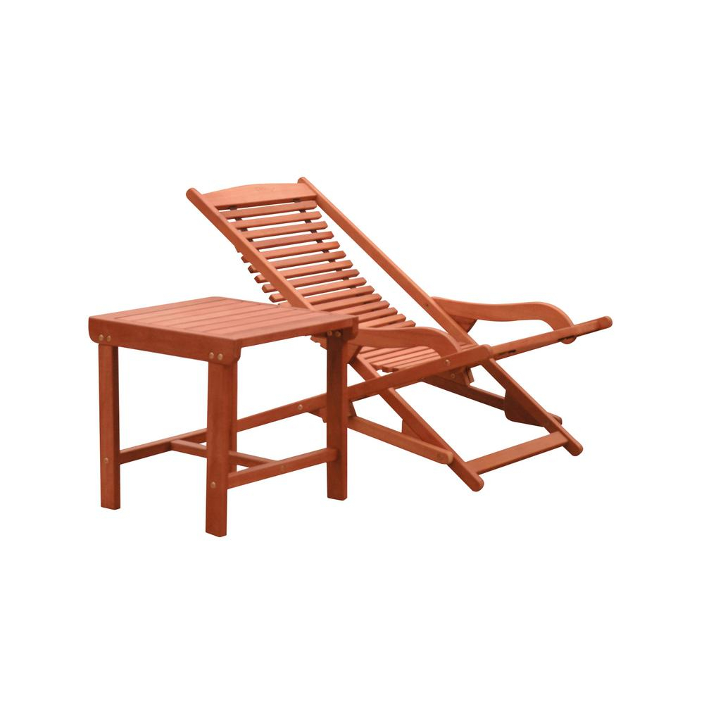 Well Liked Vifah Malibu 2 Piece Wood Outdoor Chaise Lounge Inside Outdoor 3 Piece Acacia Wood Chaise Lounge Sets (View 25 of 25)