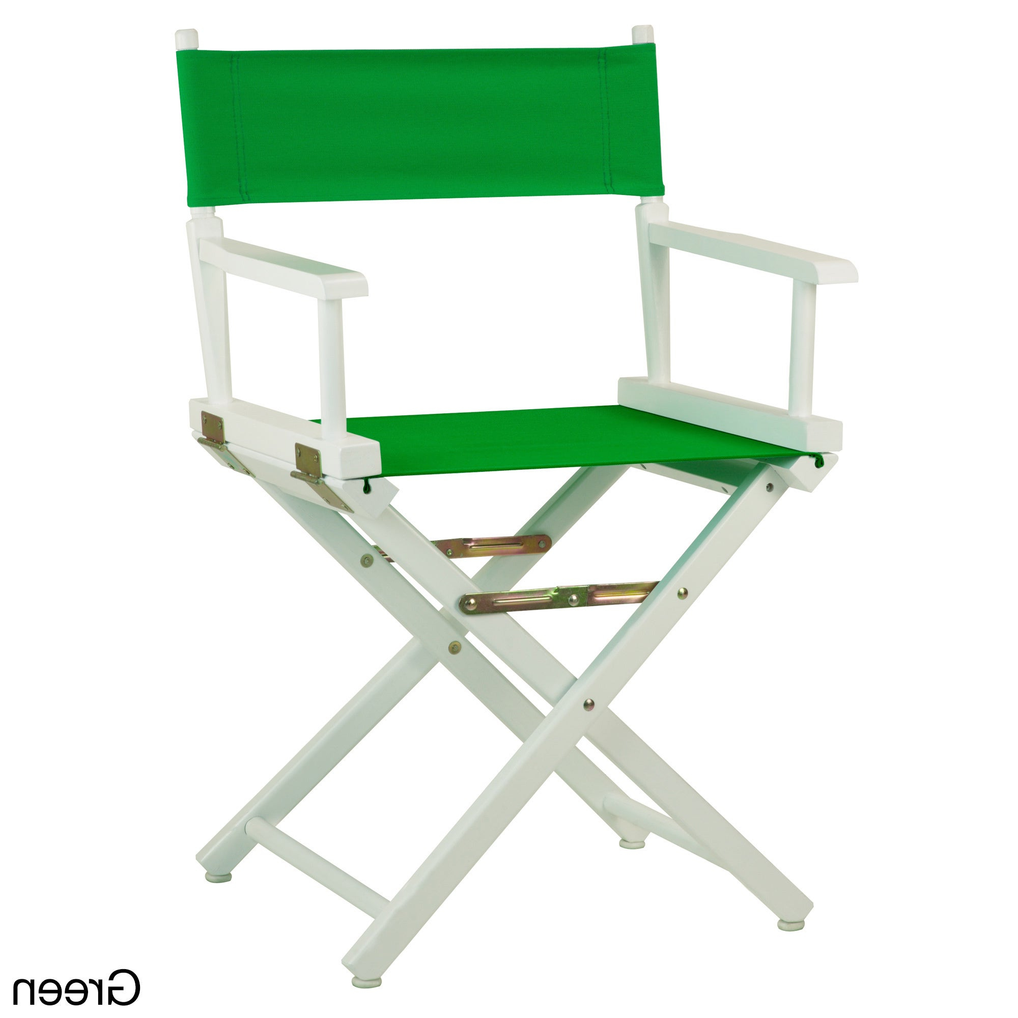 "White Frame 18 Inch Director's Chair – 33.75""h X (View 8 of 25)"