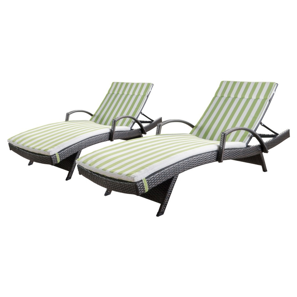 White Wicker Adjustable Chaise Loungers With Cushions Within Well Liked Salem Set Of 2 Brown Wicker Adjustable Chaise Lounge With (View 18 of 25)