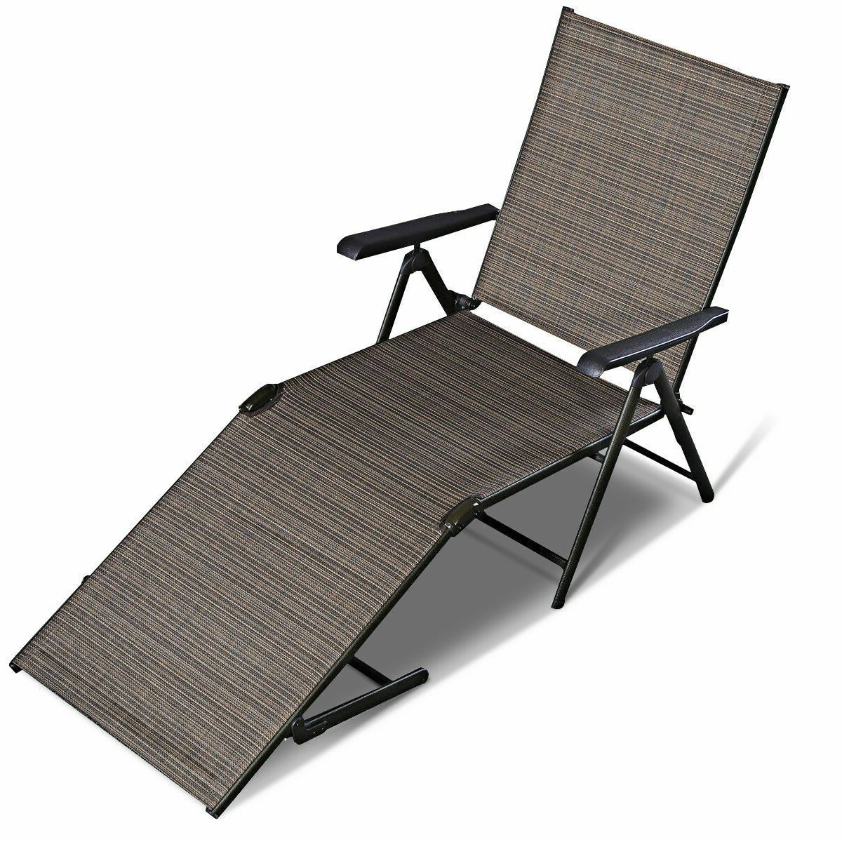Wicker Chaise Back Adjustable Patio Lounge Chairs With Wheels With Latest Citycw Adjustable Pool Chaise Lounge Chair Recliner Textilene Outdoor Patio Furniture (View 15 of 25)