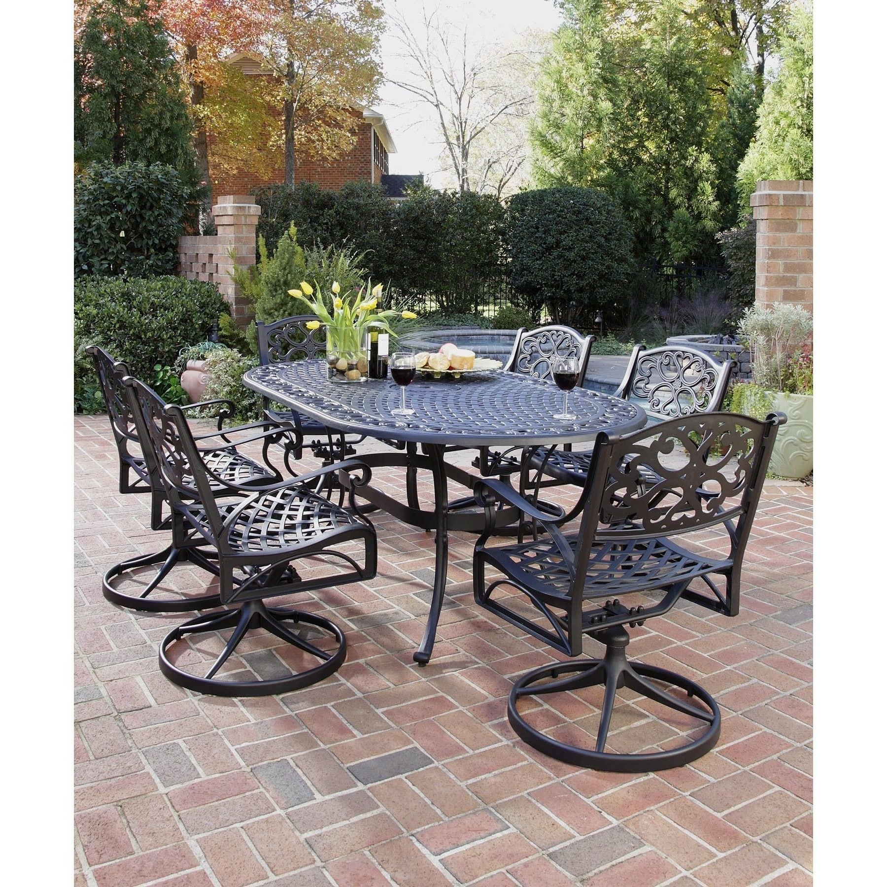 Widely Used Havenside Home Fenwick Chaise Lounge Chairs Inside Gracewood Hollow Rasmussen 7 Piece Dining Set 72 Oval Table (View 9 of 25)