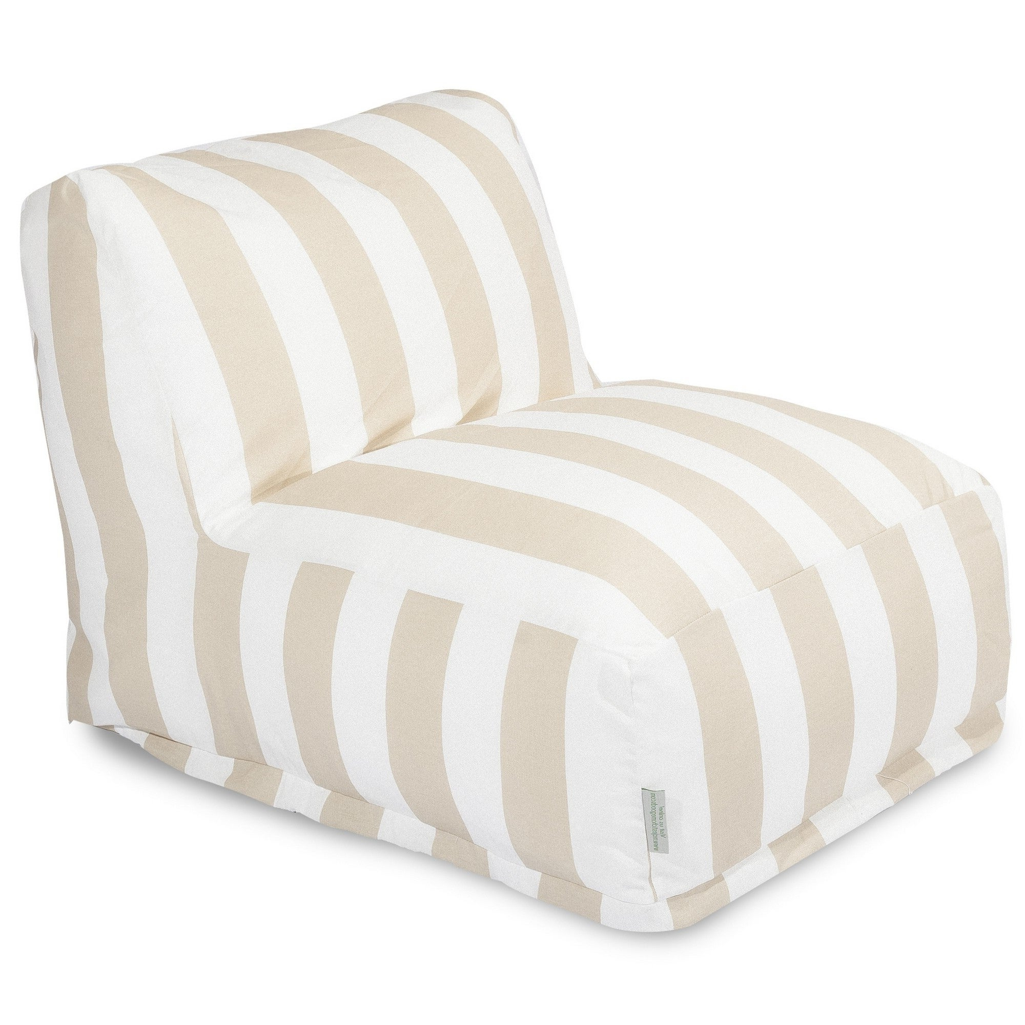 Widely Used Majestic Home Goods Indoor Outdoor Vertical Stripe Bean Bag Chair Lounger 36 In L X 27 In W X 24 In H With Regard To Indoor/outdoor Vertical Stripe Bean Bag Chair Loungers (Gallery 3 of 25)