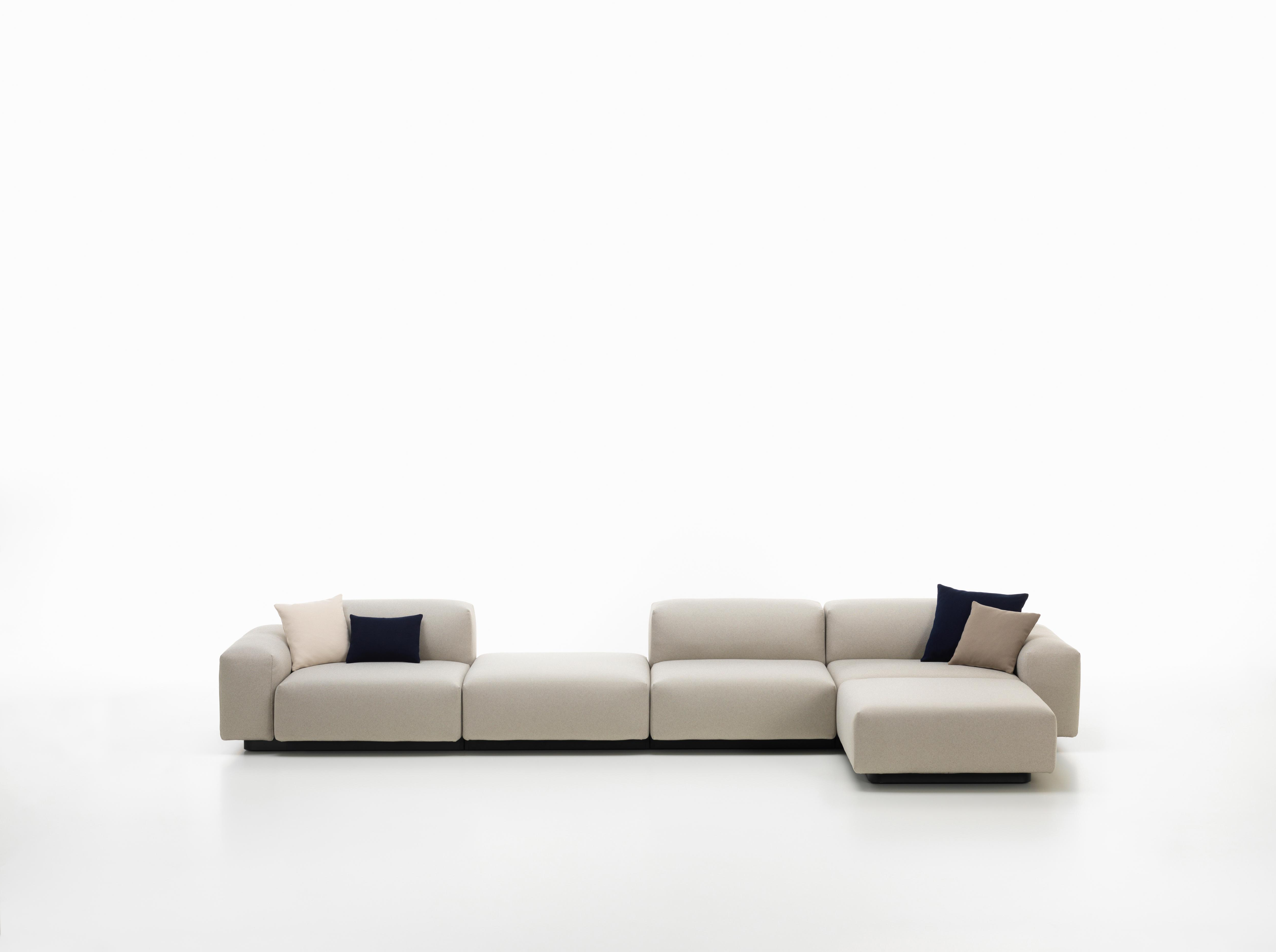 Widely Used Pearl Chaise Lounges For Vitra Soft Modular 4 Seat Sofa With Chaise Lounge & Platform In Pearl Olimpo (View 25 of 25)