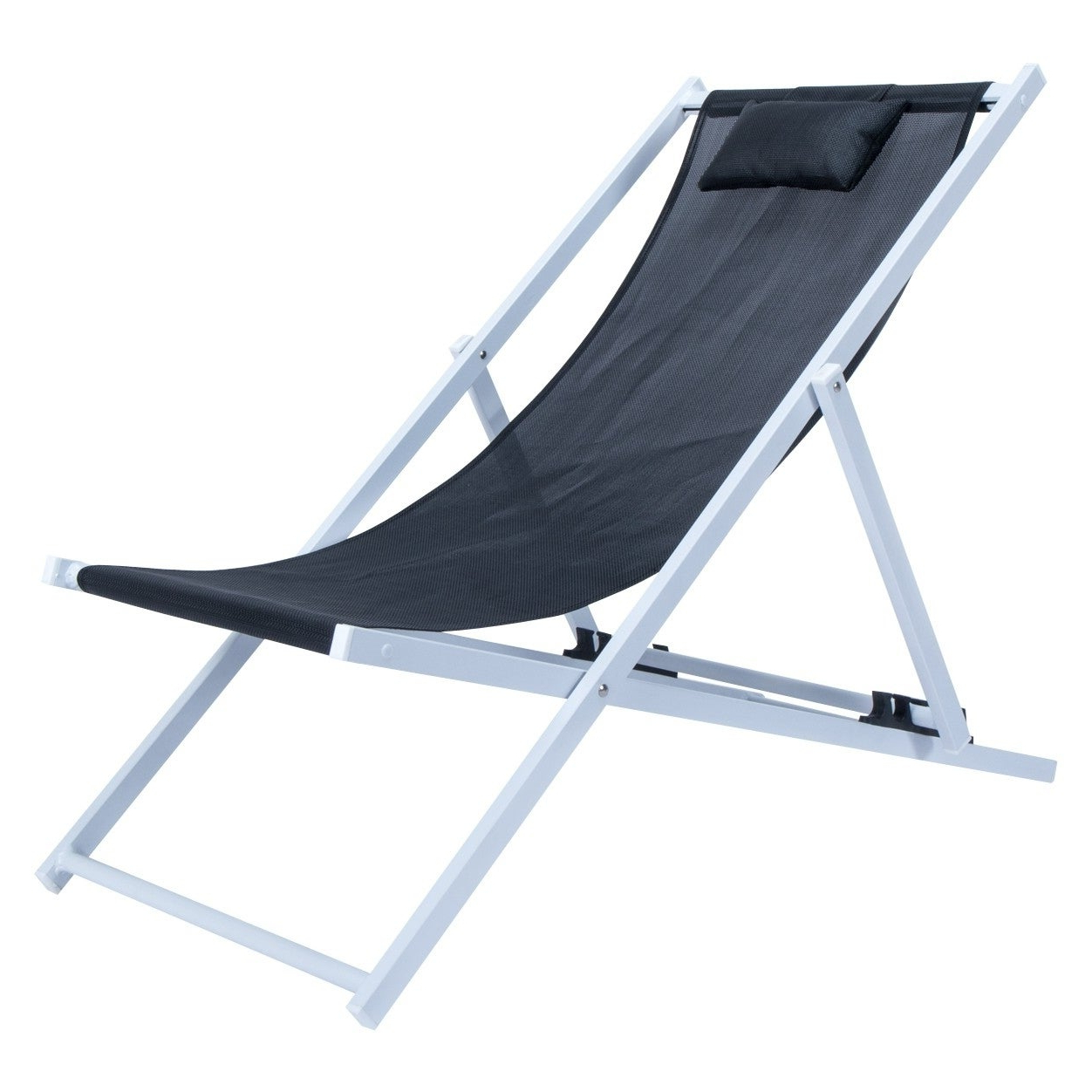 Widely Used Sunset Patio Sling Folding Chairs With Headrest Within Leisuremod Sunset Patio Sling Folding Chair Adjustable With Headrest (View 3 of 25)