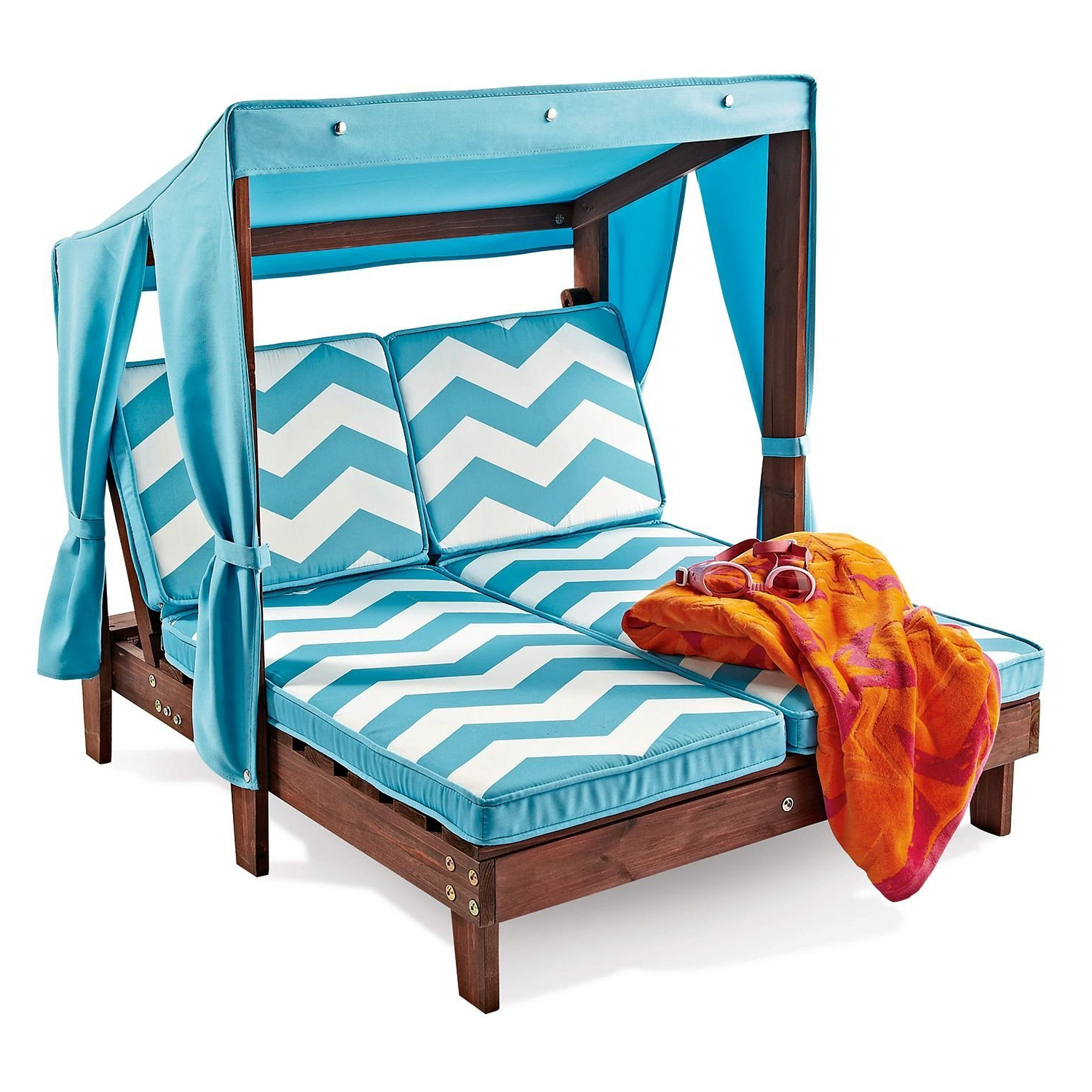 Wonderful Kids Patio Furniture Kidkraft Kids Outdoor Wood In Most Recent Striped Outdoor Chaises With Umbrella (View 25 of 25)