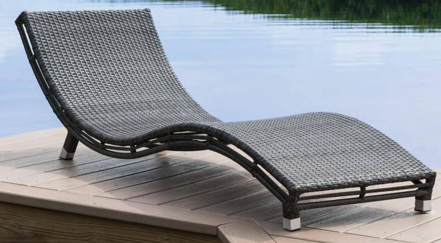 Wood Blue And White Cushion Outdoor Chaise Lounge Chairs Regarding Well Liked Graphite Curved Chaise Lounge W/off White Cushions Pjo 1601 Gry Cc Panama  Jack (View 22 of 25)