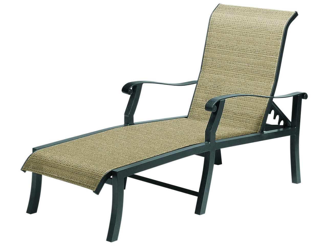 Woodard Cortland Sling Aluminum Chaise Lounge With Favorite Myers Outdoor Aluminum Mesh Chaise Lounges (Gallery 24 of 25)