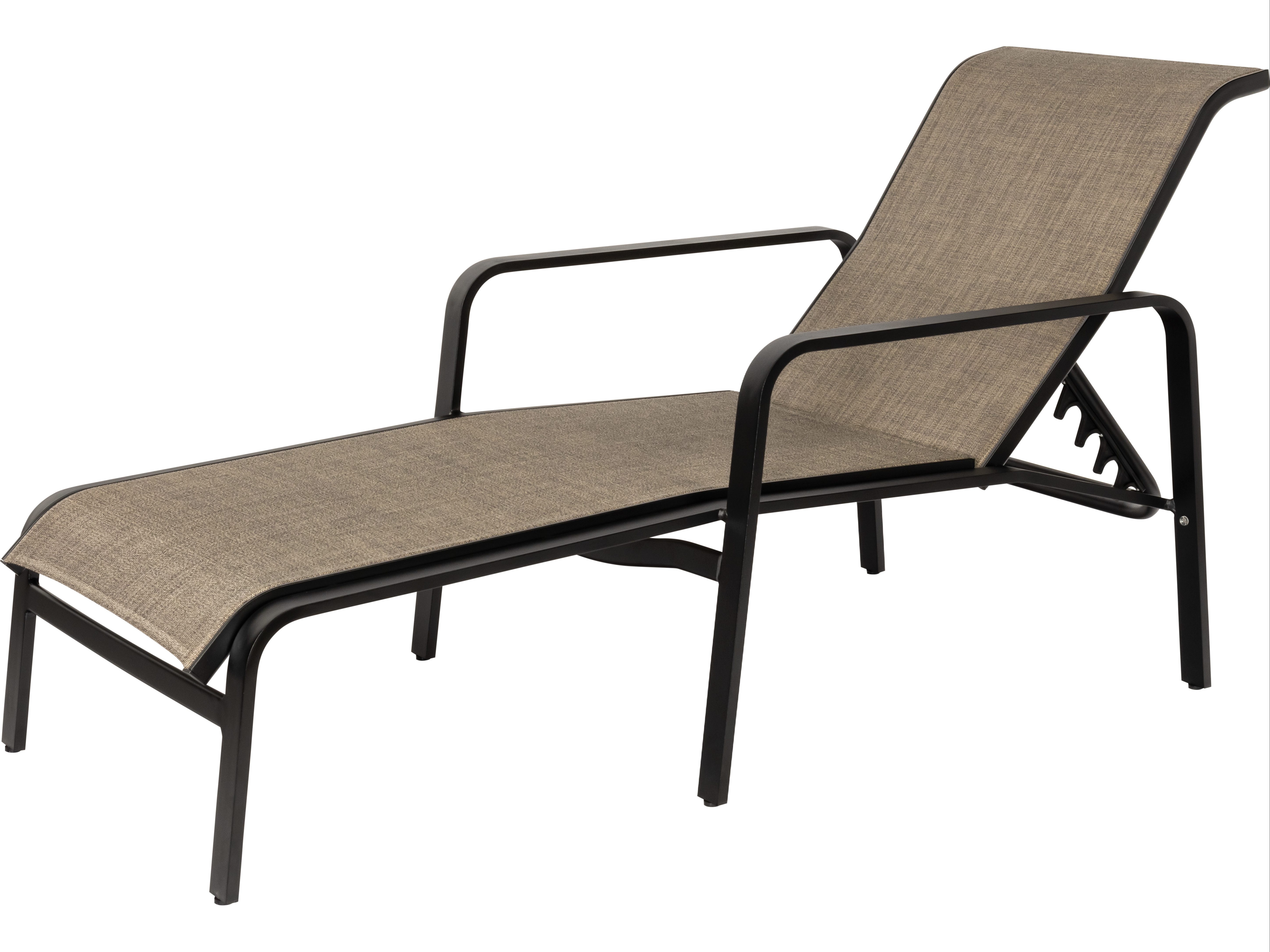Woodard Landings Sling Aluminum Chaise Lounge With Fashionable Aluminum Wheeled Chaise Lounges (View 25 of 25)