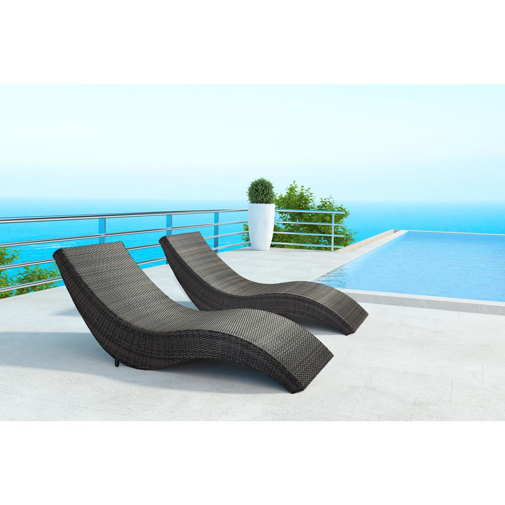 Zuo Hassleholtz Beach Aluminum Outdoor Chaise Lounge Within Famous Amazonia Pacific 3 Piece Wheel Lounger Sets With White Cushions (View 25 of 25)