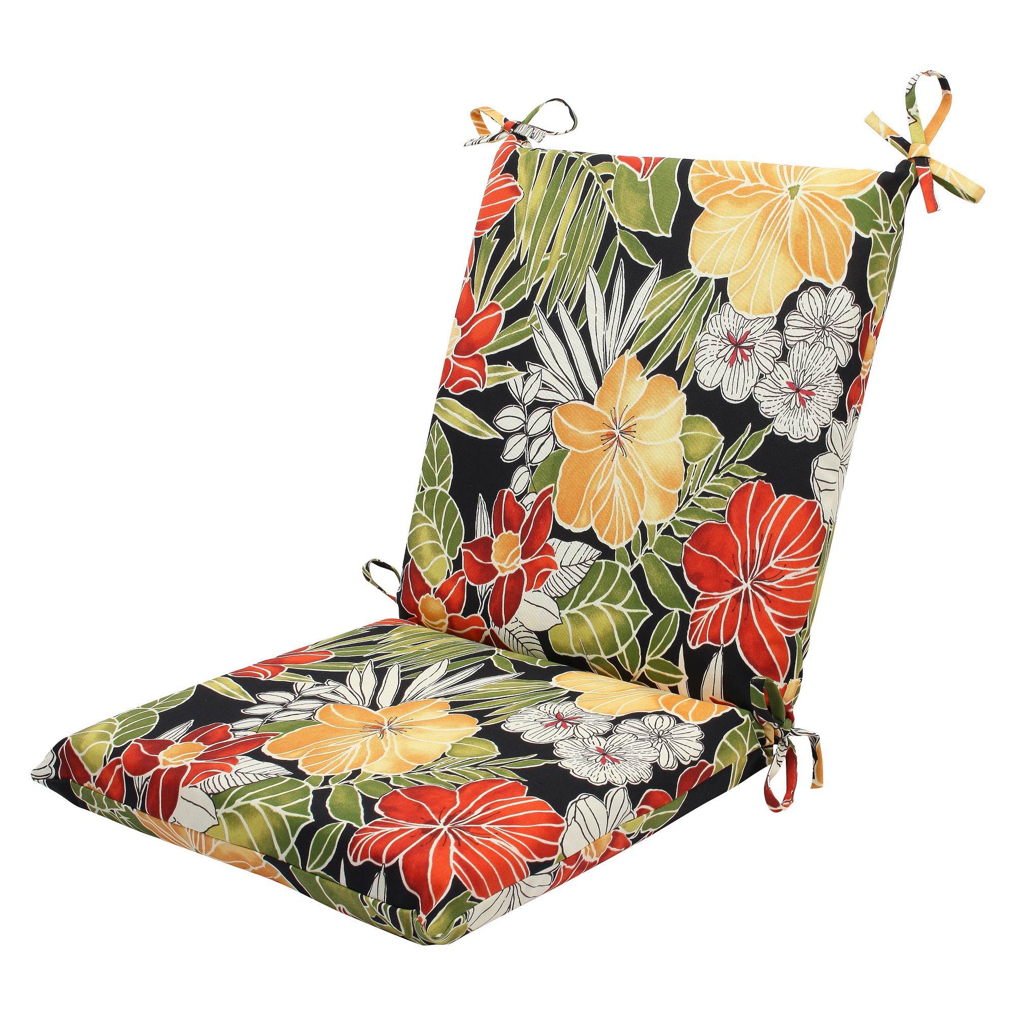 2019 Clemens Patio Sofas Within Pillow Perfect Clemens Outdoor Squared Edge Chair Cushion (View 1 of 25)