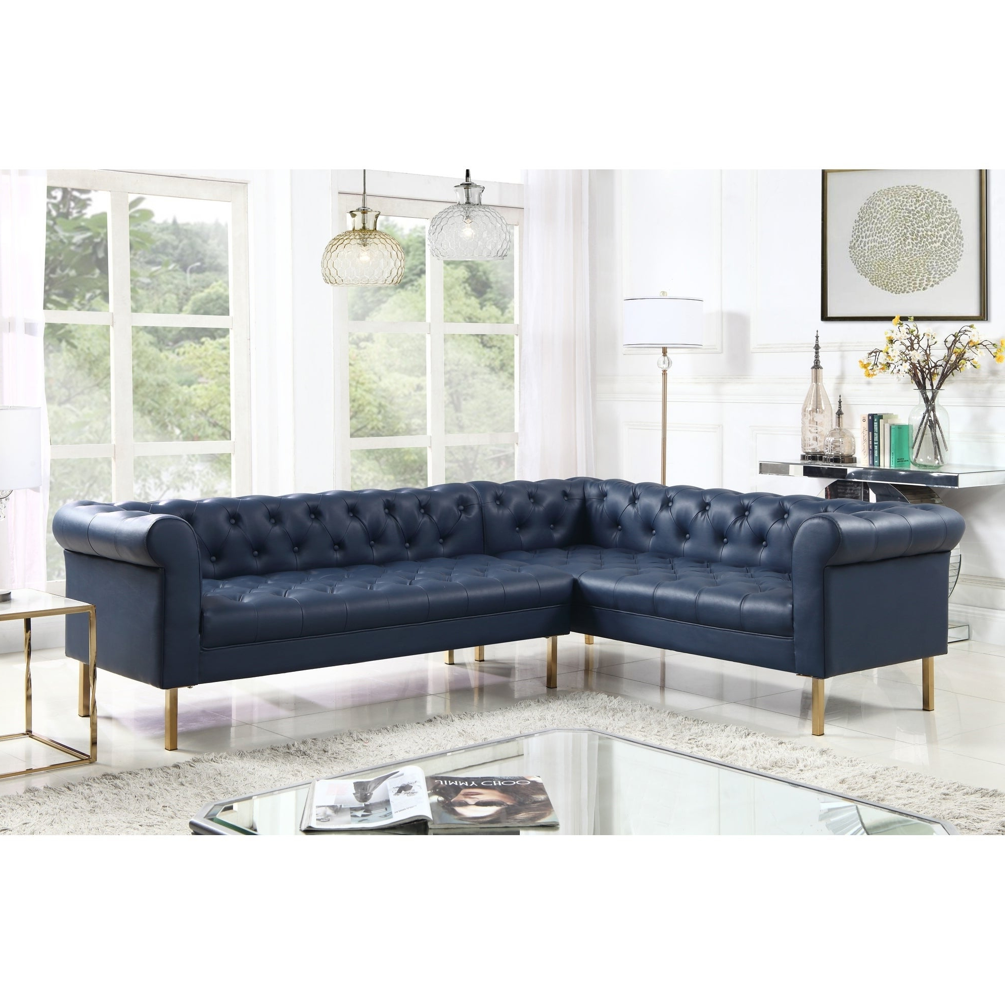2019 Jimmie 3 Piece Sectionals Seating Group With Cushions Throughout Chic Home Julian Left Facing Sectional Sofa Pu Leather Upholstered (View 1 of 25)