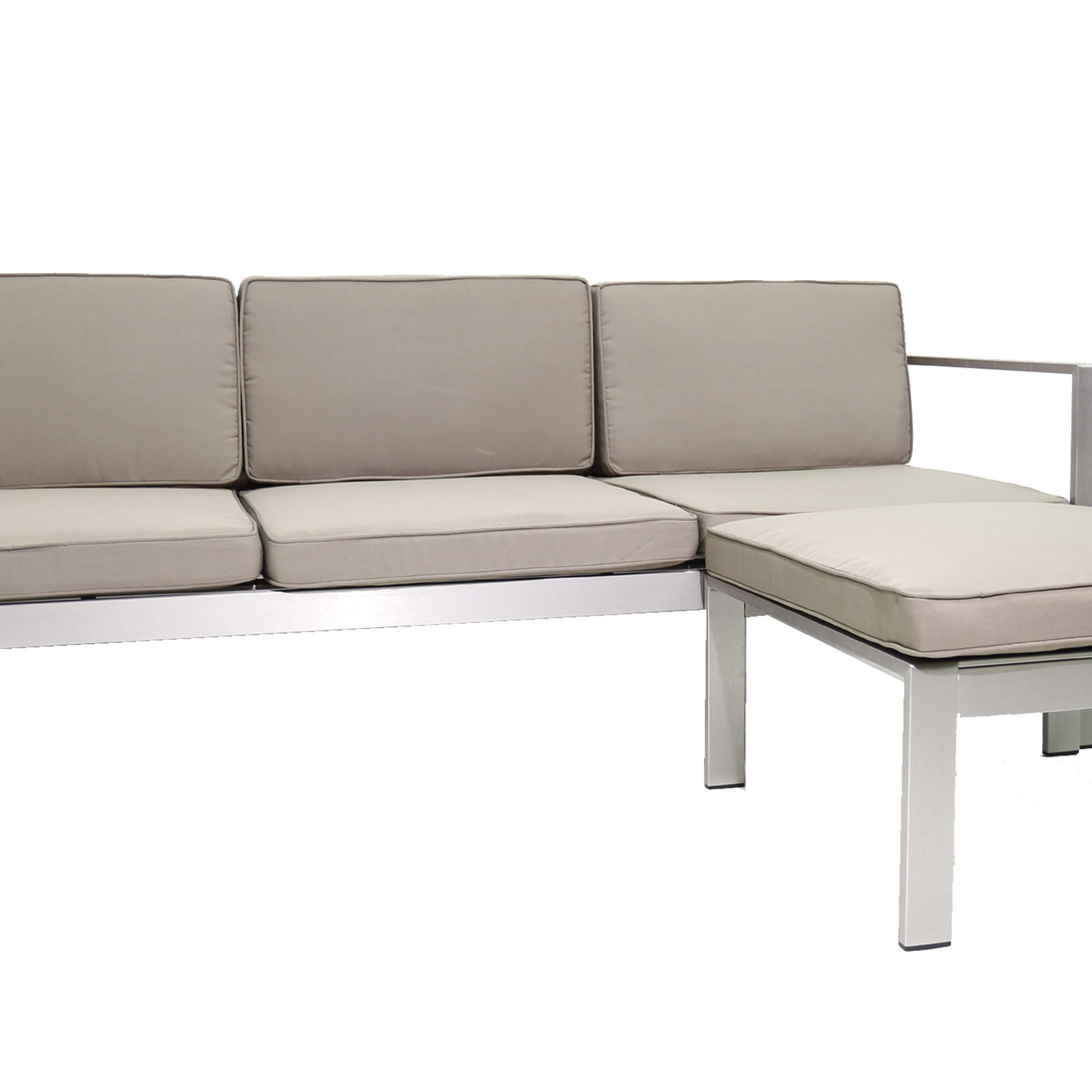 2019 Karen Patio Sectional With Cushions Pertaining To O'kean Teak Patio Sofas With Cushions (View 24 of 25)