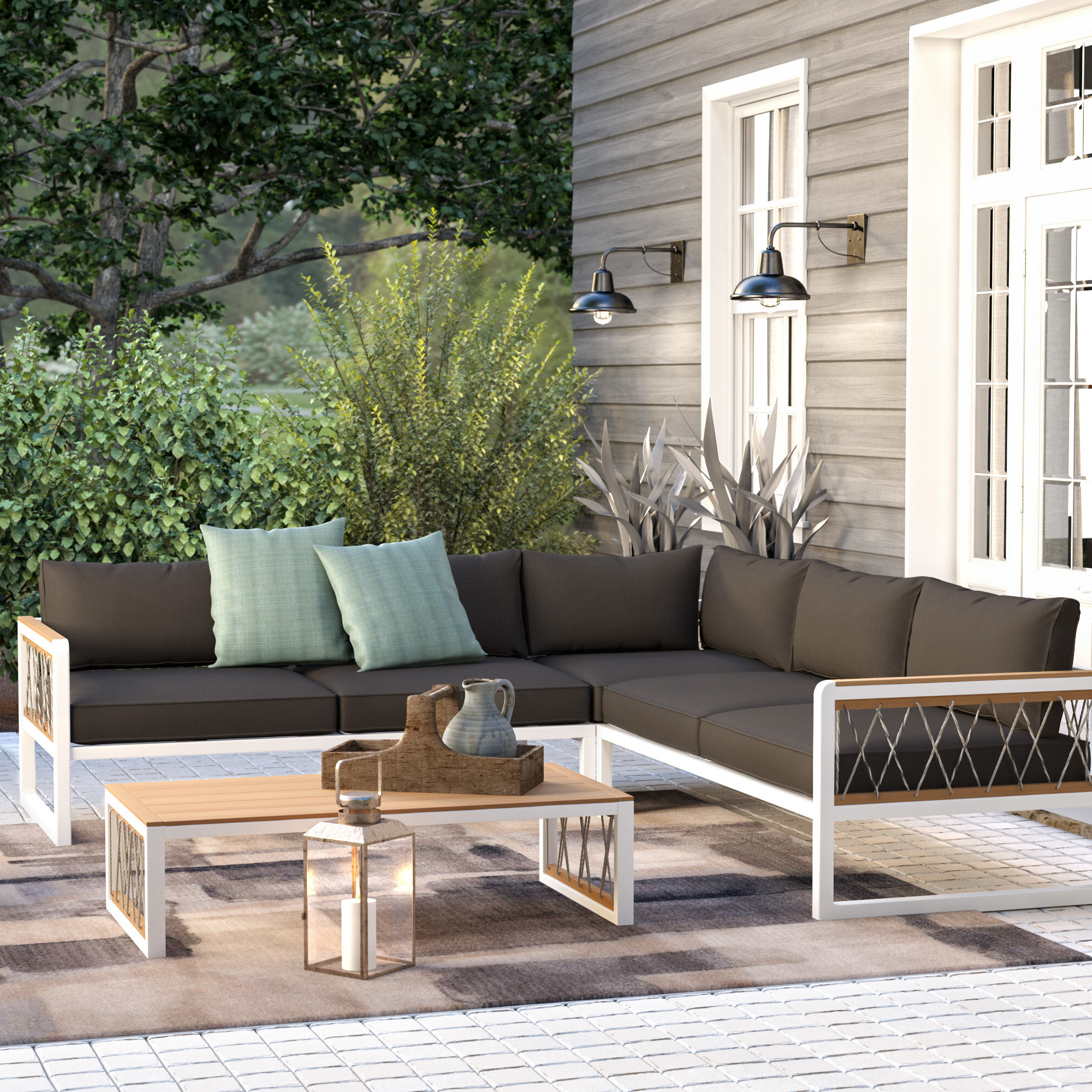 2019 Olinda 3 Piece Sectionals Seating Group With Cushions For Anoop 4 Piece Sectional Seating Group With Cushions (View 10 of 25)