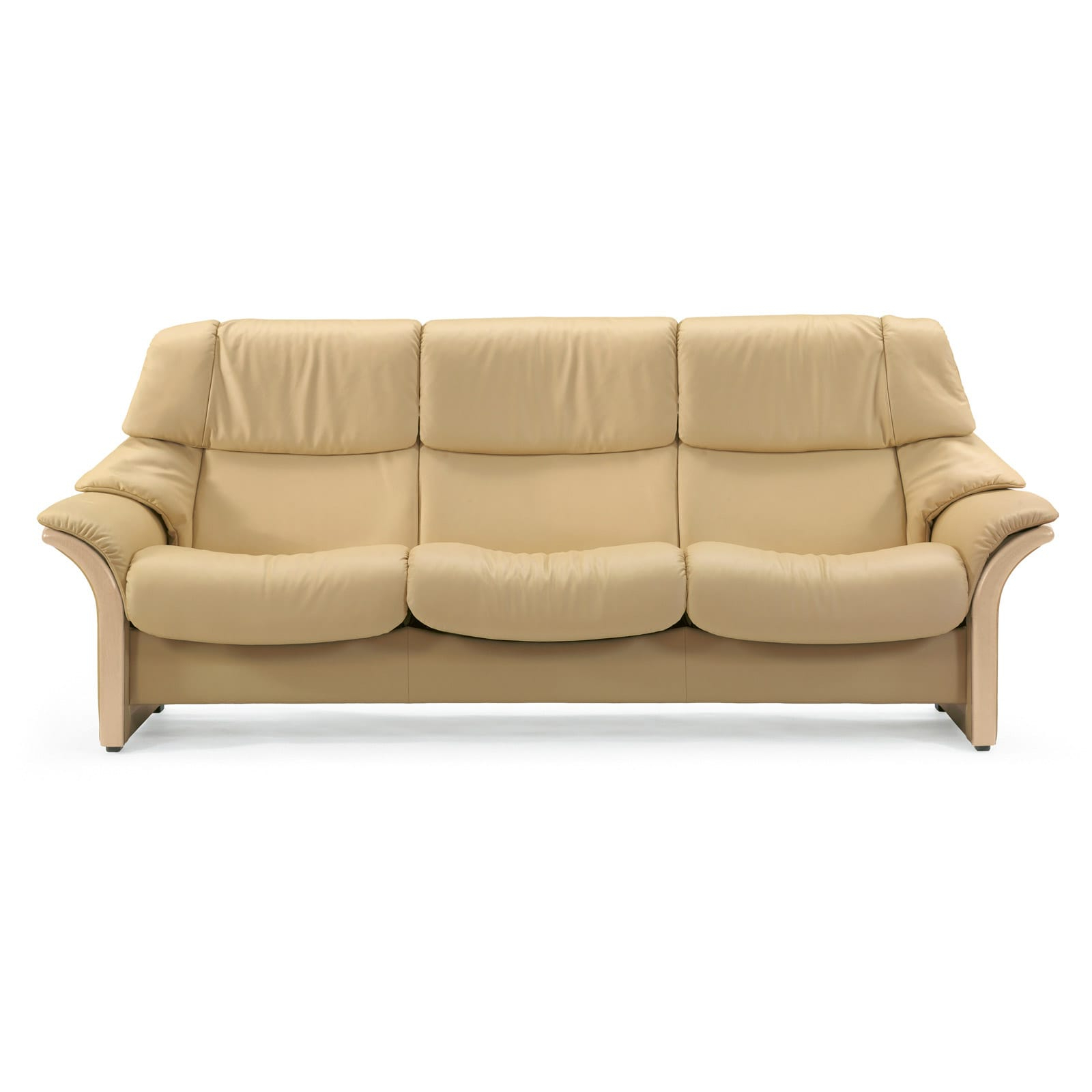 2019 Stressless 3 Sitzer Eldorado (m) Hoch Leder Paloma Sand Holz Natur Throughout Paloma Sofas With Cushions (Gallery 14 of 25)