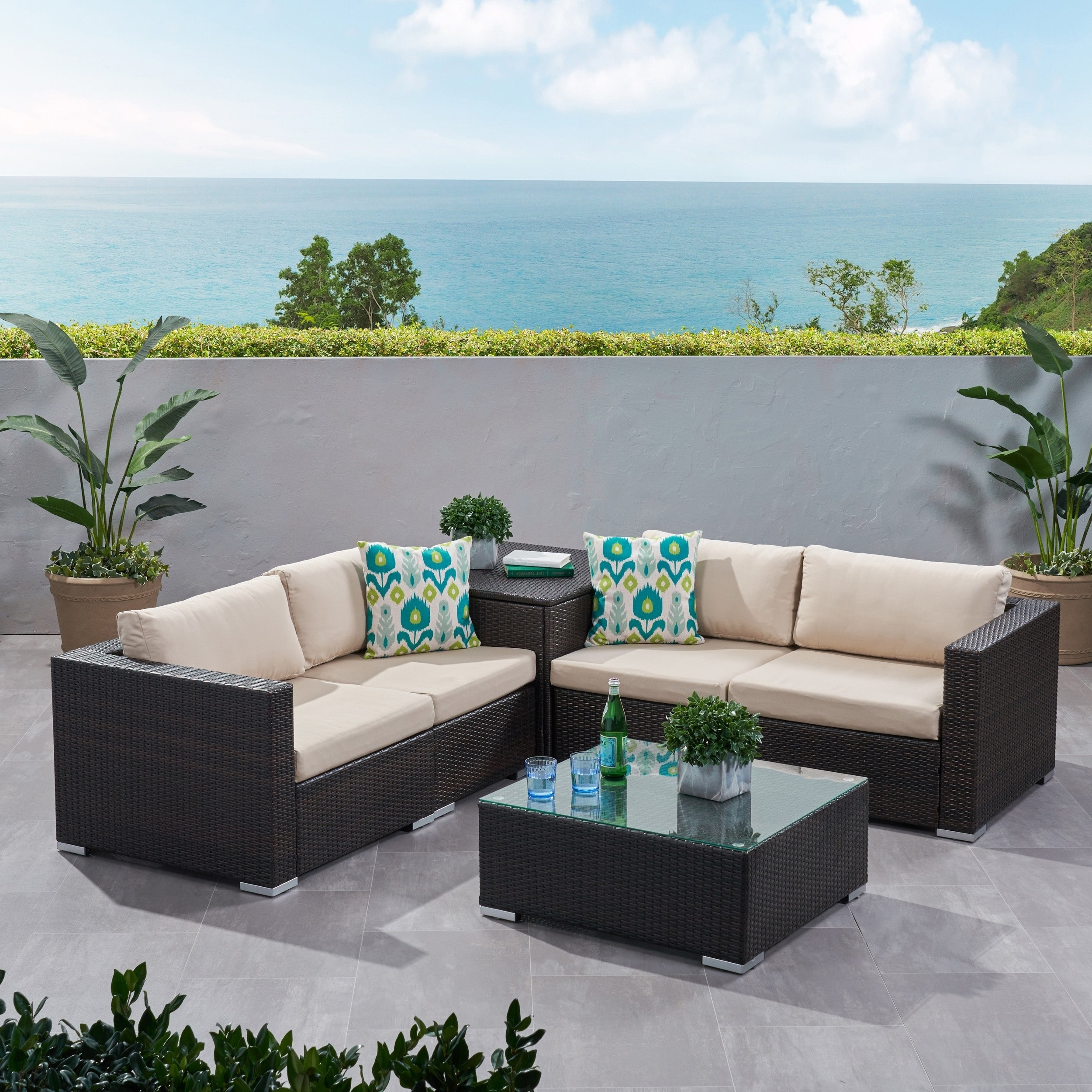 2019 Vallauris Storage Patio Sectionals With Cushions With Outdoor Sofa With Storage – Easy Craft Ideas (View 12 of 25)