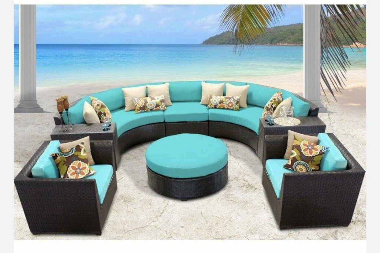 8 Piece Sectional Seating Furniture With Cushions New! Intended For 2019 Olinda 4 Piece Teak Sectionals Seating Group With Cushions (View 8 of 25)