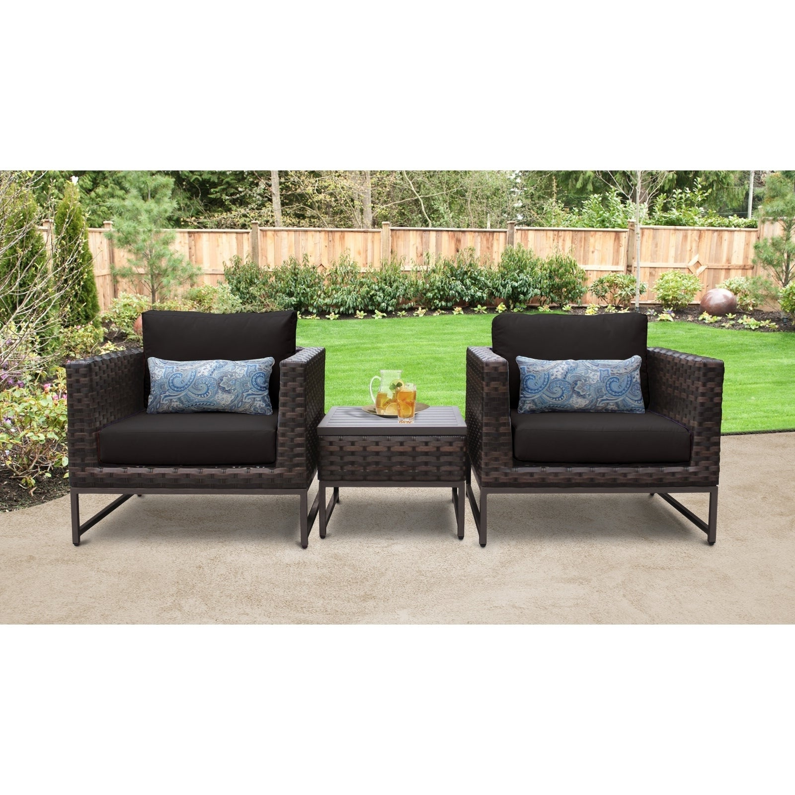 Baca Patio Sofas With Cushions Pertaining To Preferred Barcelona 3 Piece Outdoor Wicker Patio Furniture Set 03A (View 5 of 25)