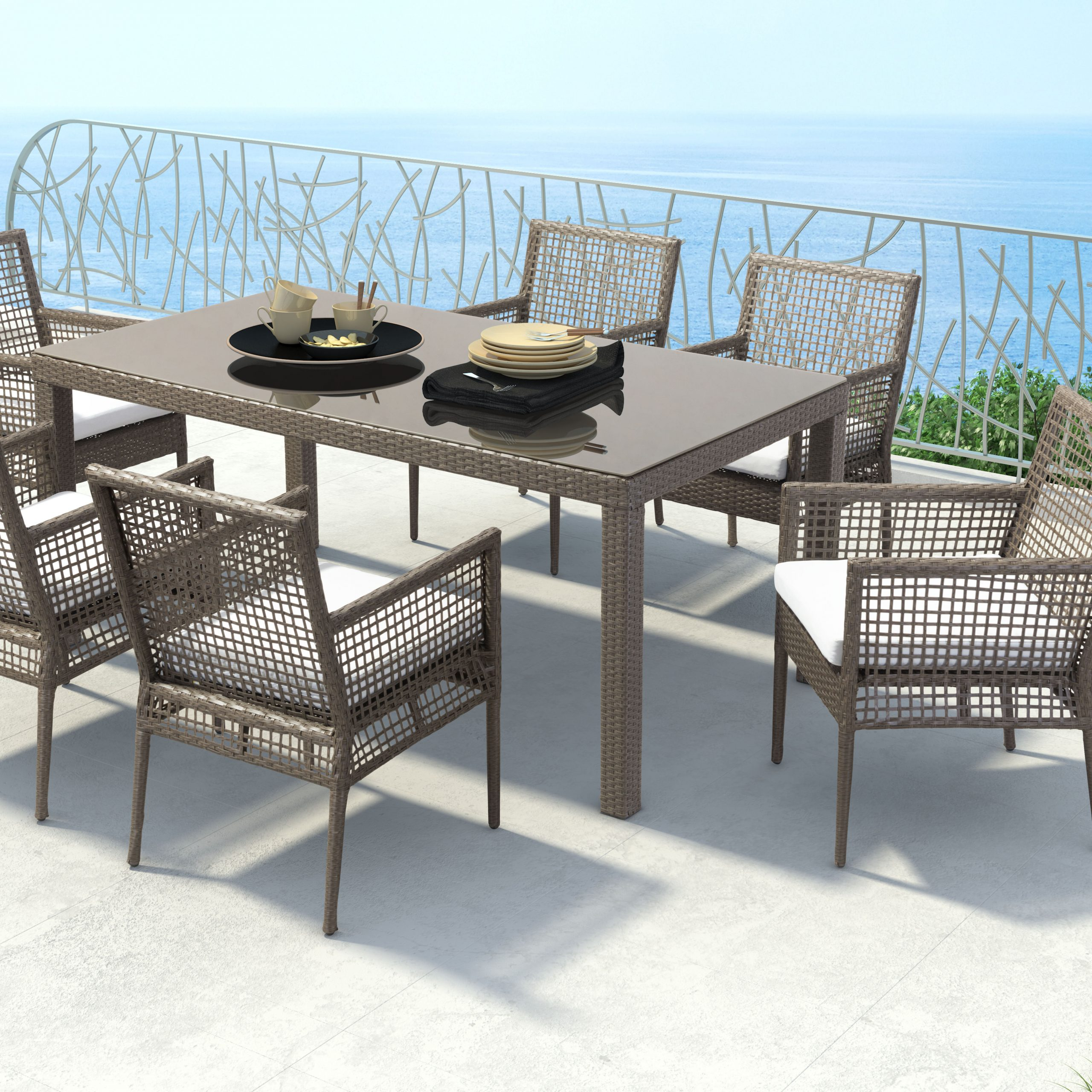 Baca Patio Sofas With Cushions With Regard To Preferred Brayden Studio Baca Patio Dining Chair With Cushion (View 7 of 25)